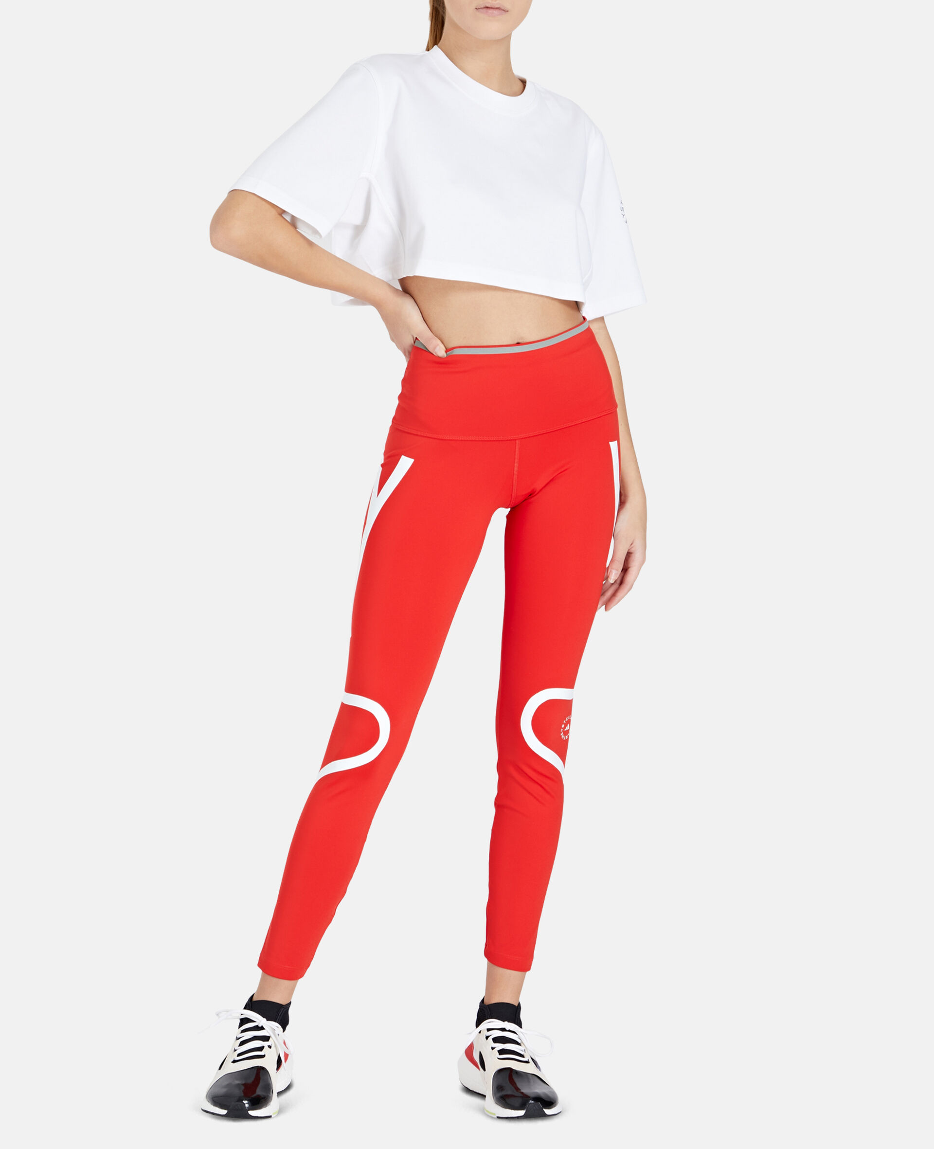 TruePace Long Running Tights-Red-large image number 1