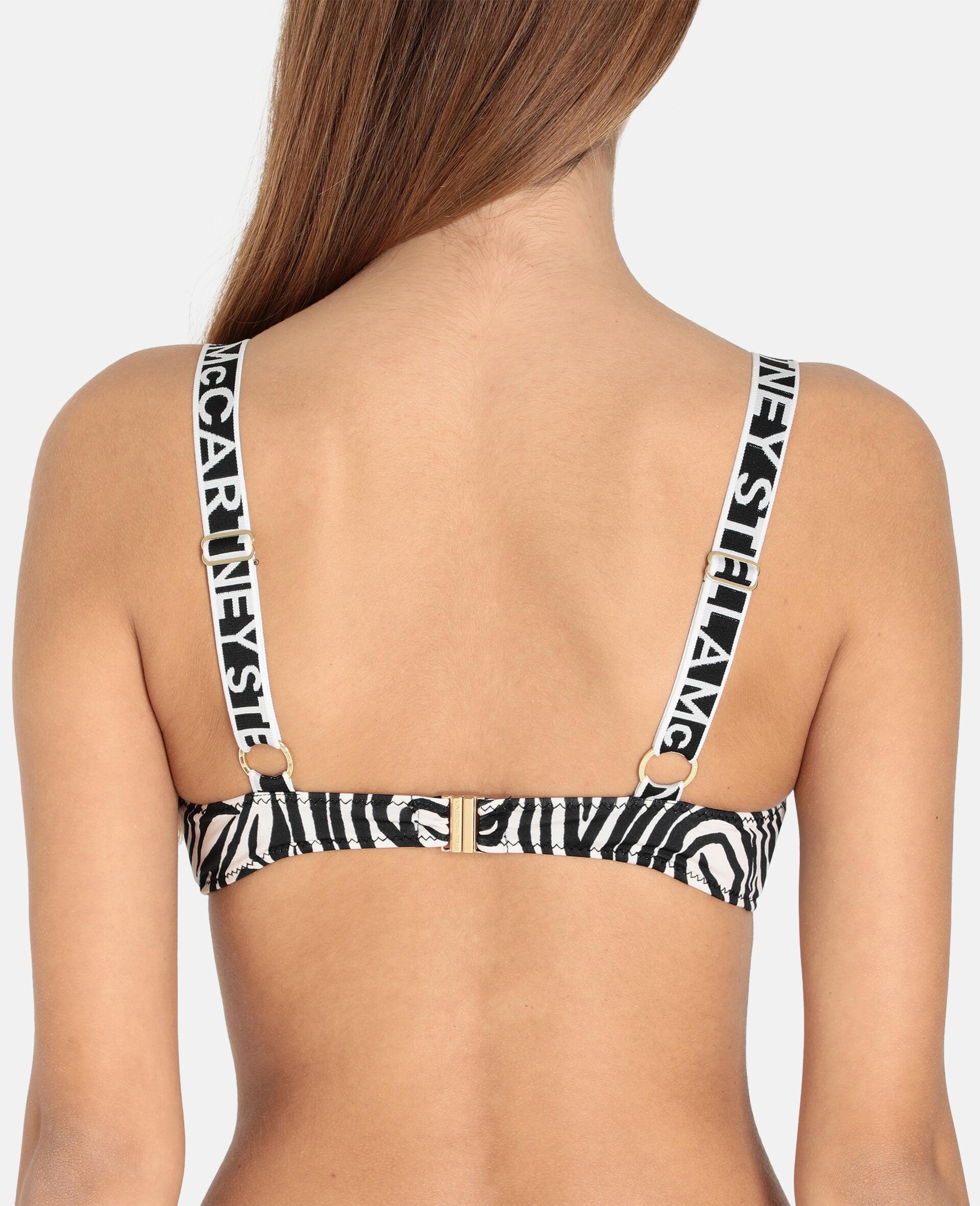 Animal Mix Padded Brassiere Bikini Top-Black-large image number 2