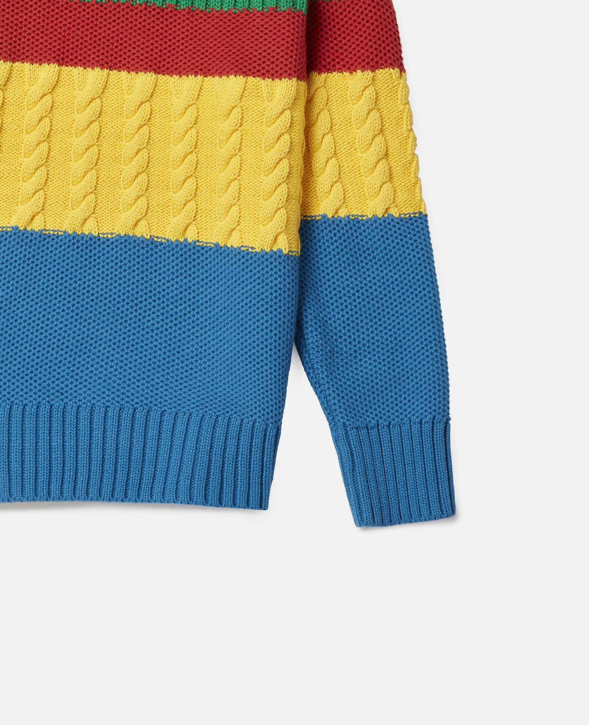 Übergroßer Strickpullover in Blockfarben-Design-Bunt-large image number 2
