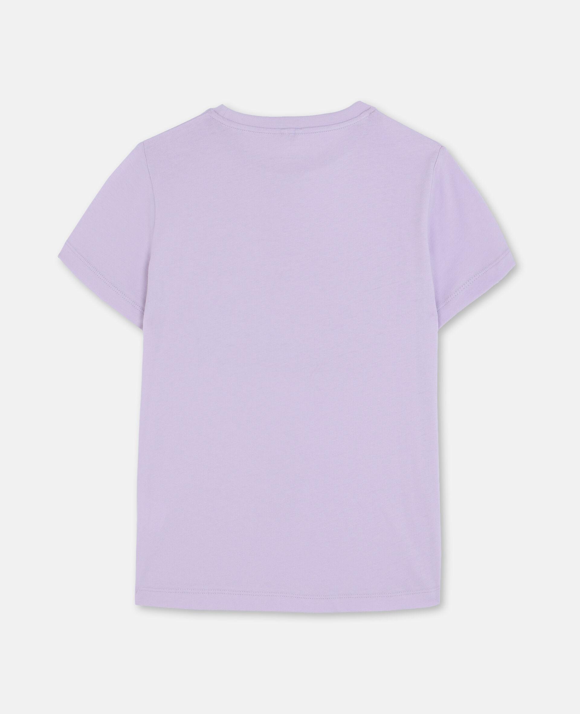 T-shirt en coton à flamant rose en trompe-l'œil-Rose-large image number 3