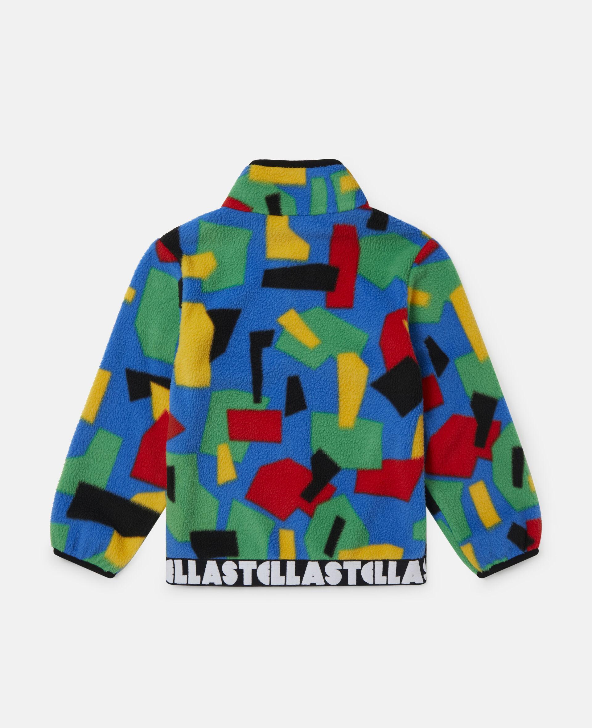 Colourblock Polar Fleece Ski Cardigan-Multicolour-large image number 3