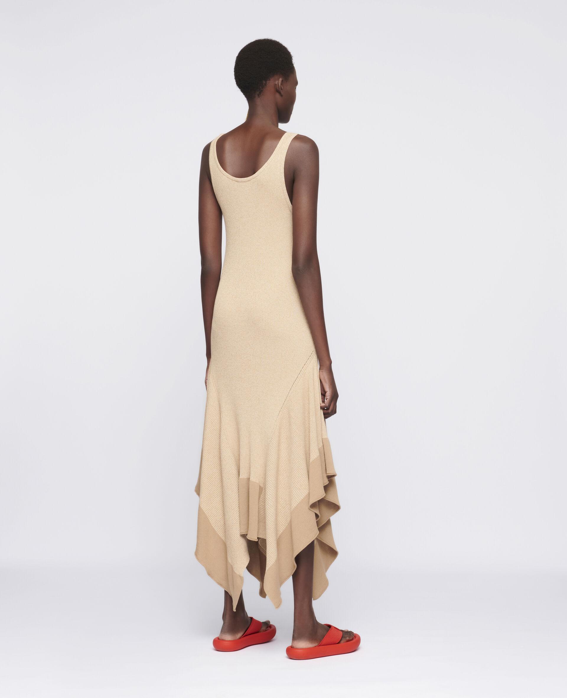 Sleeveless Maxi Dress-Beige-large image number 2
