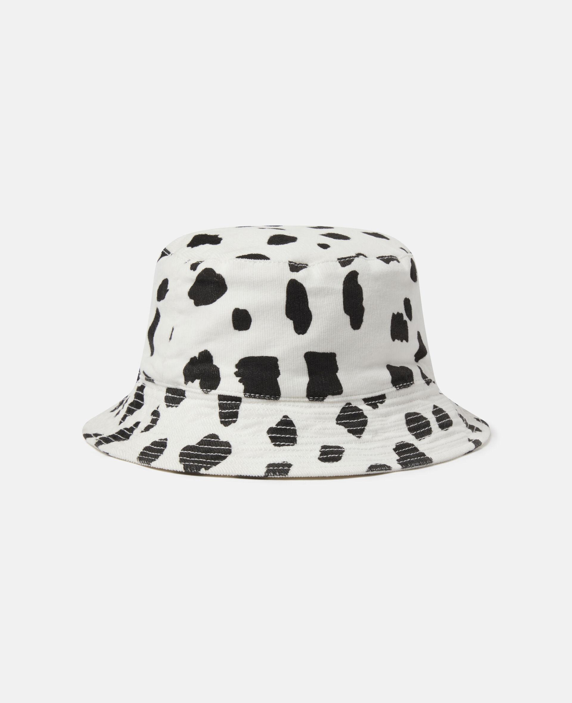 Dalmatian Spots Corduroy Hat-White-large image number 0
