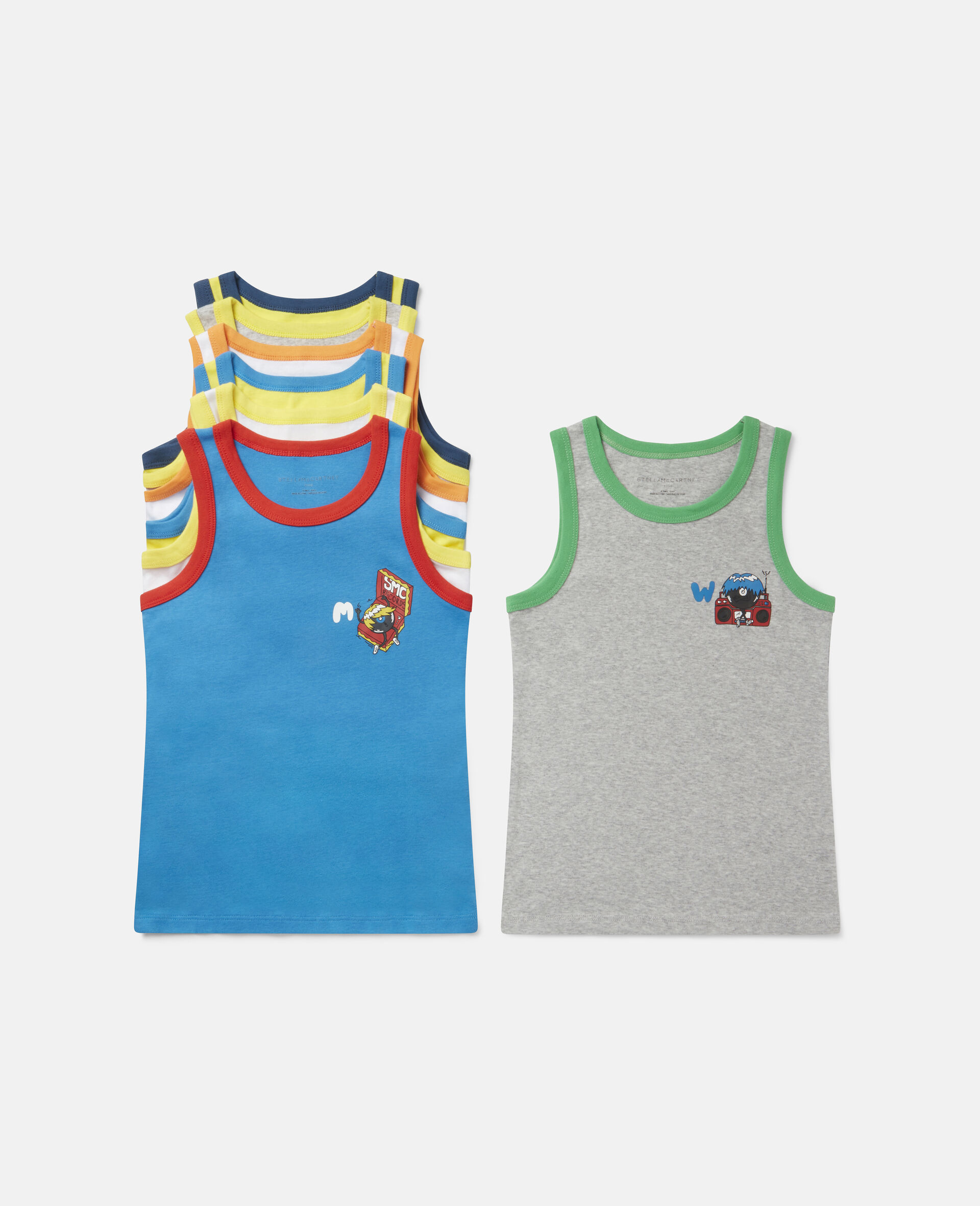 音乐怪兽平纹针织罗纹内裤一周套装-Multicolored-large image number 0