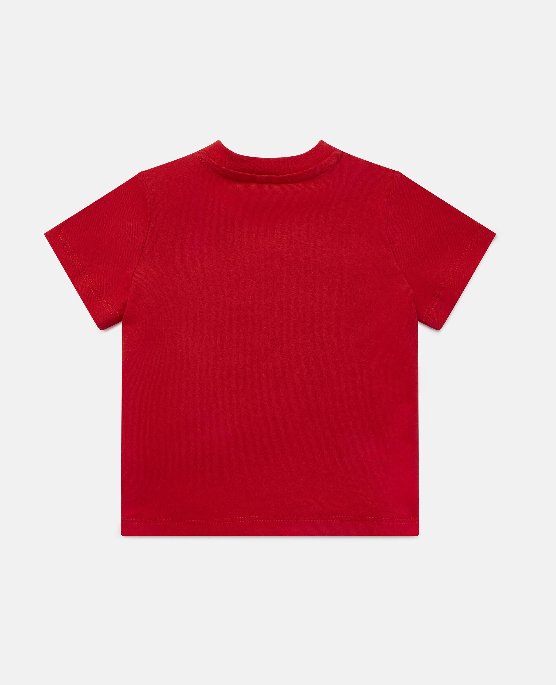 Baumwoll-T-Shirt mit Skateboardmotiv-Rot-large image number 3
