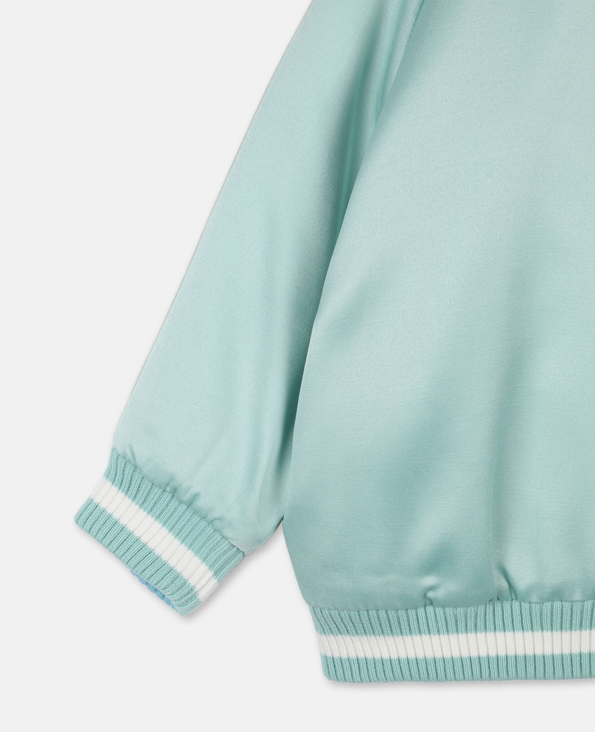 Butterfly Satin Bomber -Green-large image number 2