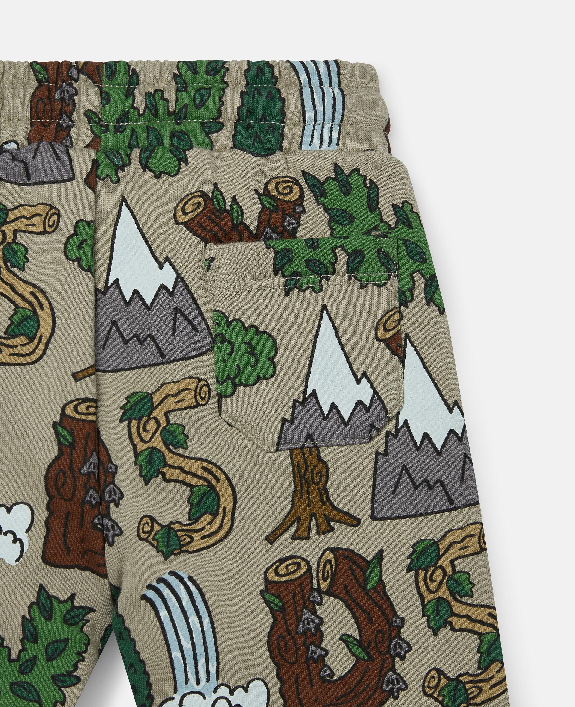 Pantalon de jogging en polaire «Stay Wild»-Vert-large image number 1
