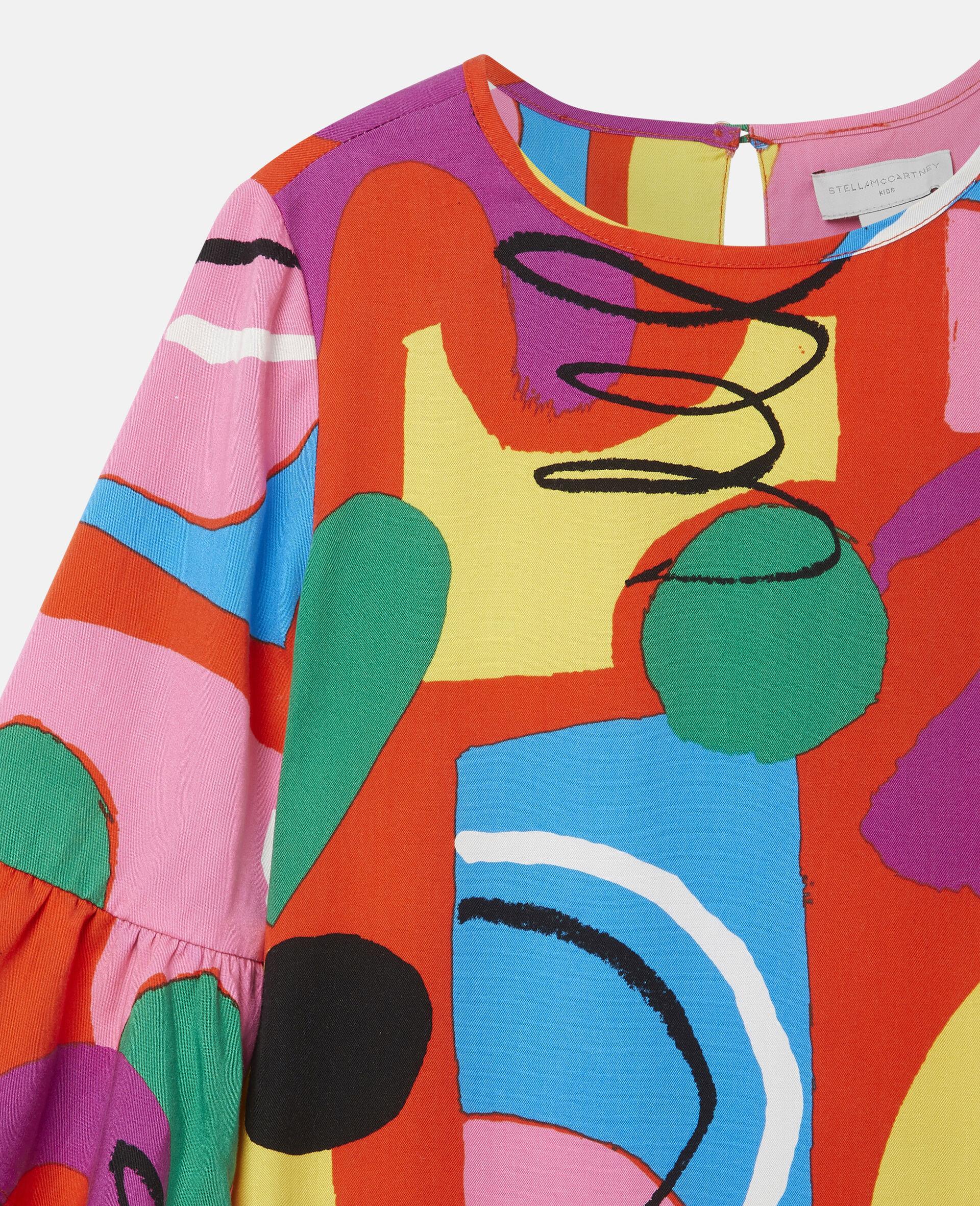 彩绘天丝斜纹布连衣裙-Multicolored-large image number 2