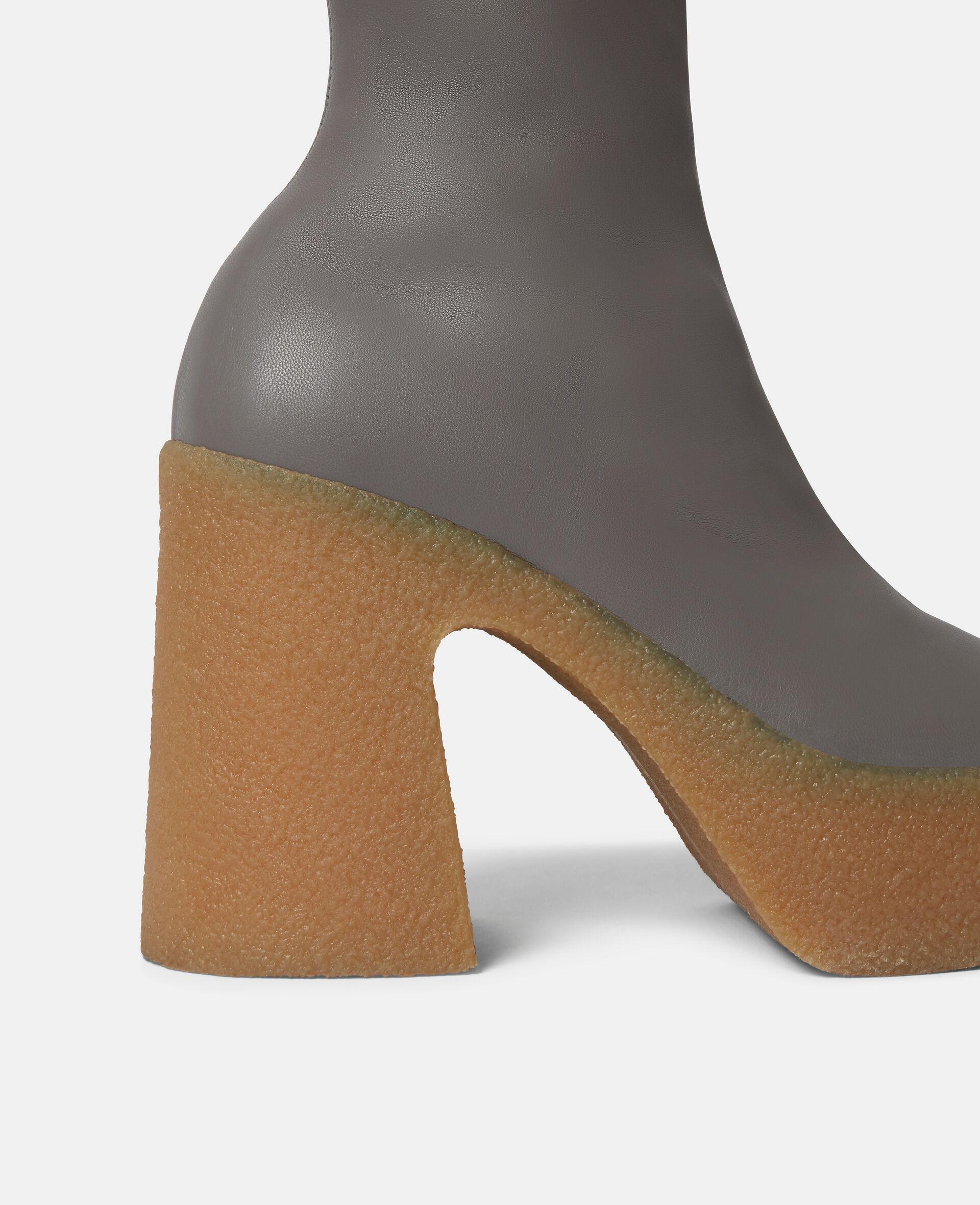 Chunky Ankle Boots-Grey-large image number 3