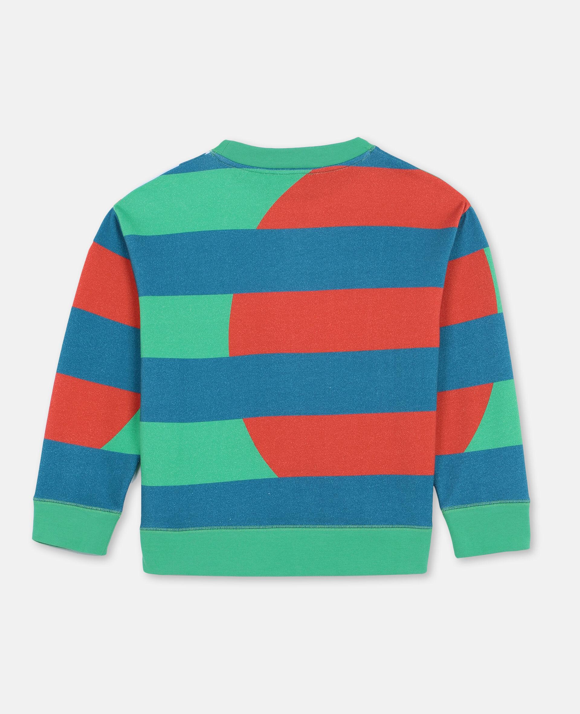 Sweat-shirt oversize en coton à motif palmiers -Vert-large image number 3
