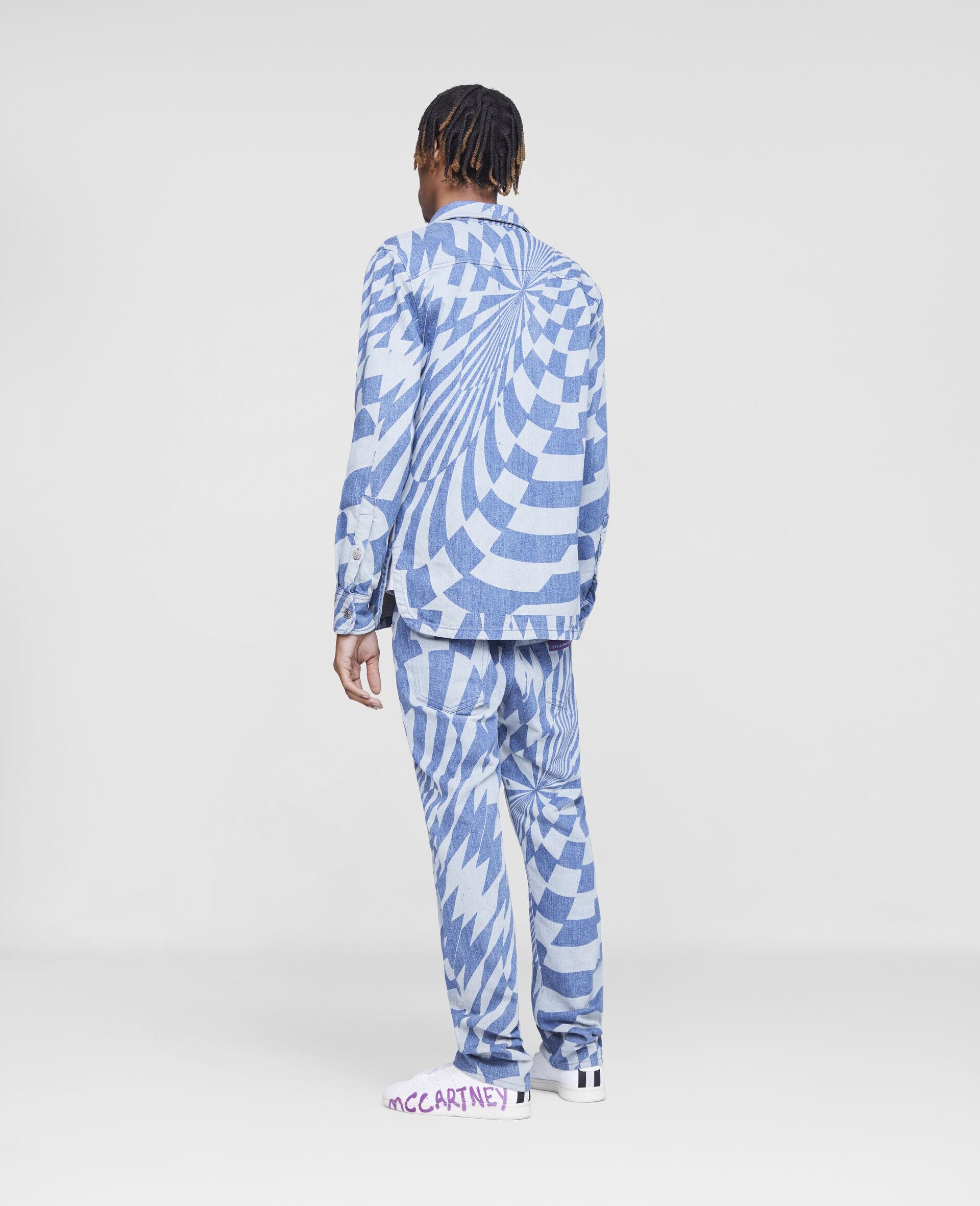 Jeans in Denim Psichedelici Ed Curtis-Blu-large image number 2