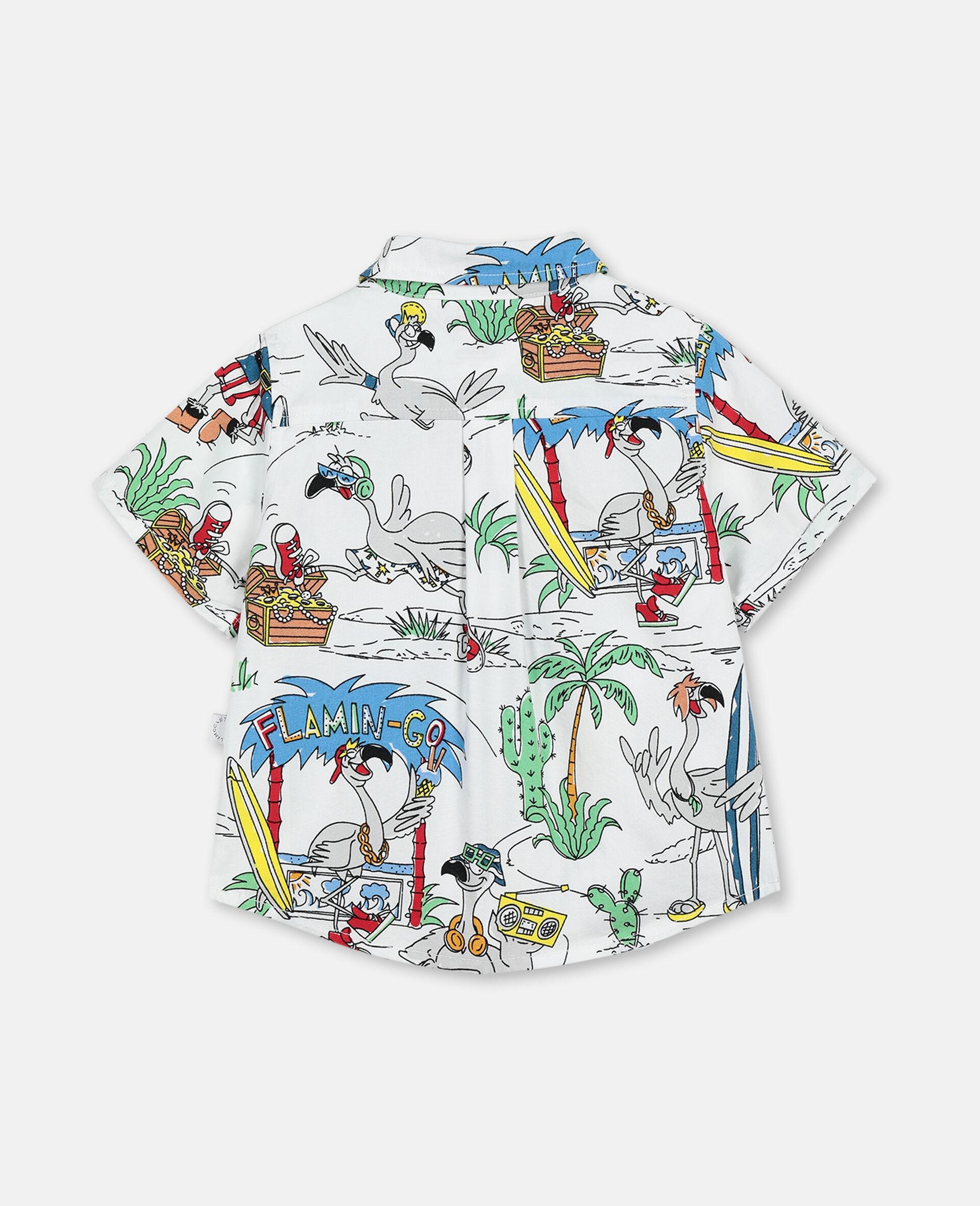 Hemd aus Baumwolle mit Flamingo-Land-Print -Bunt-large image number 3