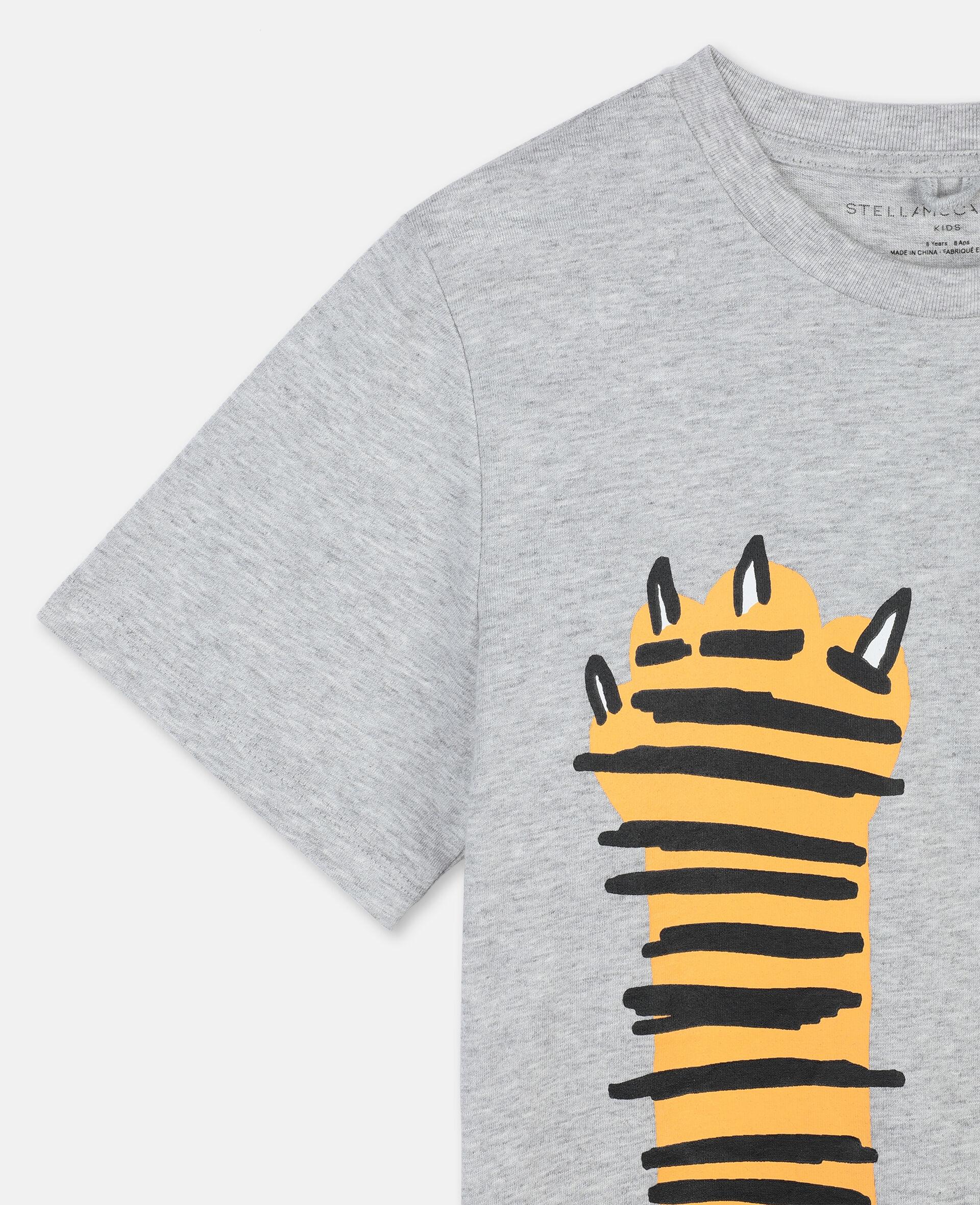 ポーズ アップ コットン Tシャツ -グレー-large image number 2