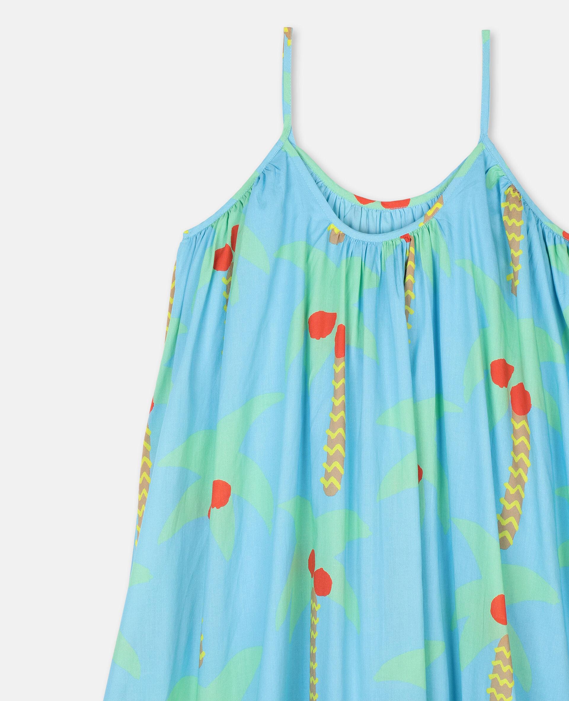 Baumwollkleid mit Palmen-Grün-large image number 2