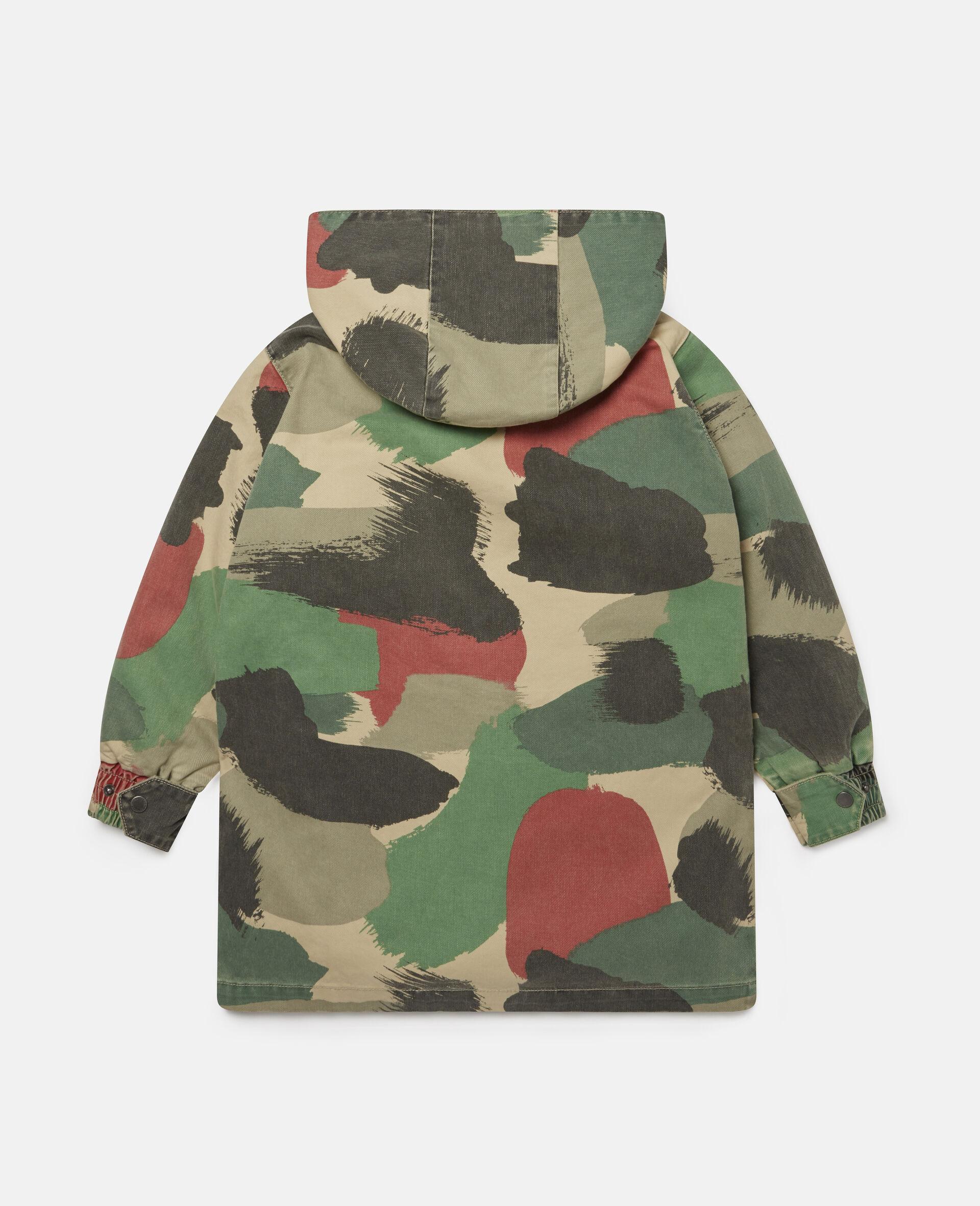 Camouflage Denim Parka-Multicolour-large image number 3
