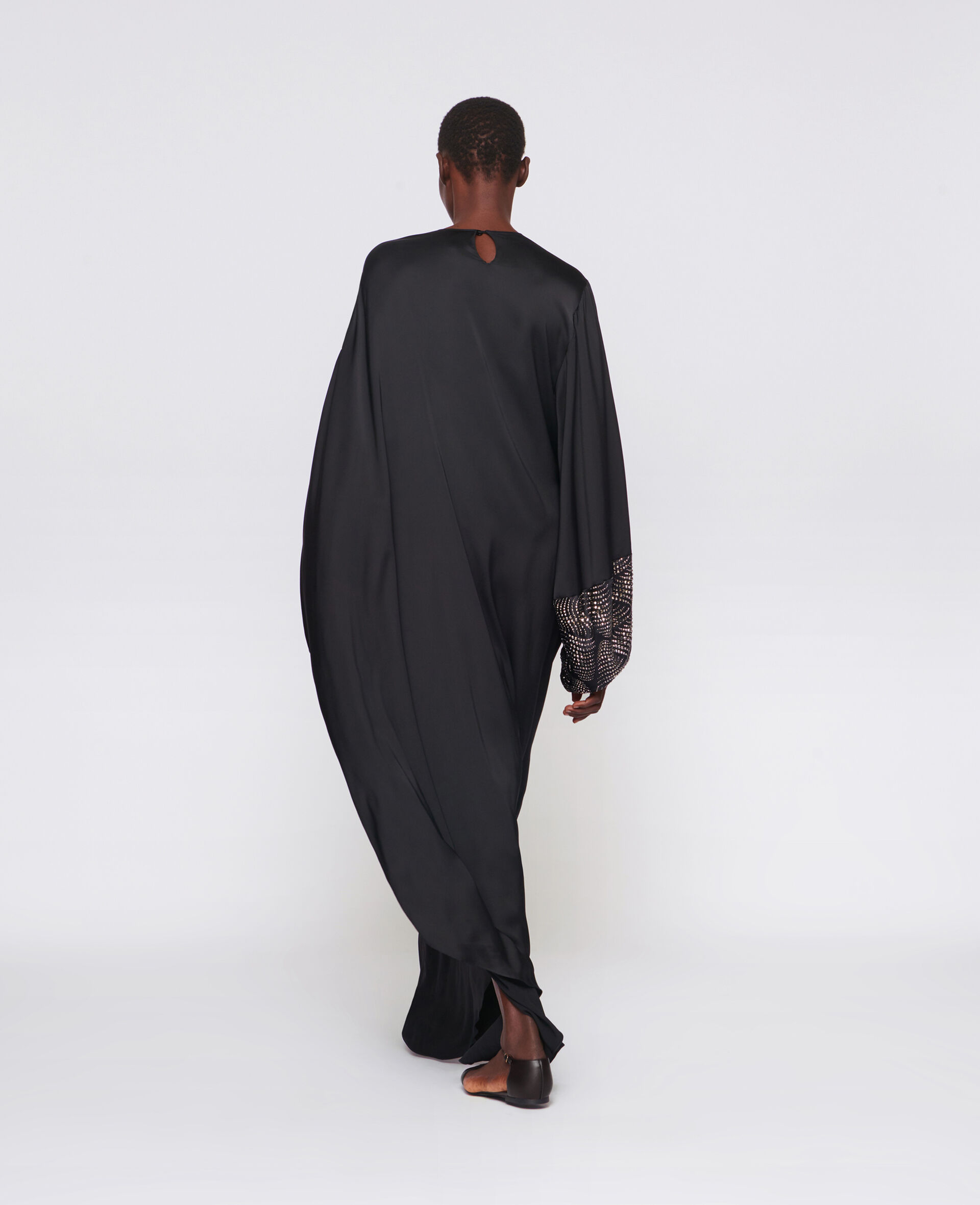 Robe Aliyah avec détail thermocollé-Noir-large image number 2
