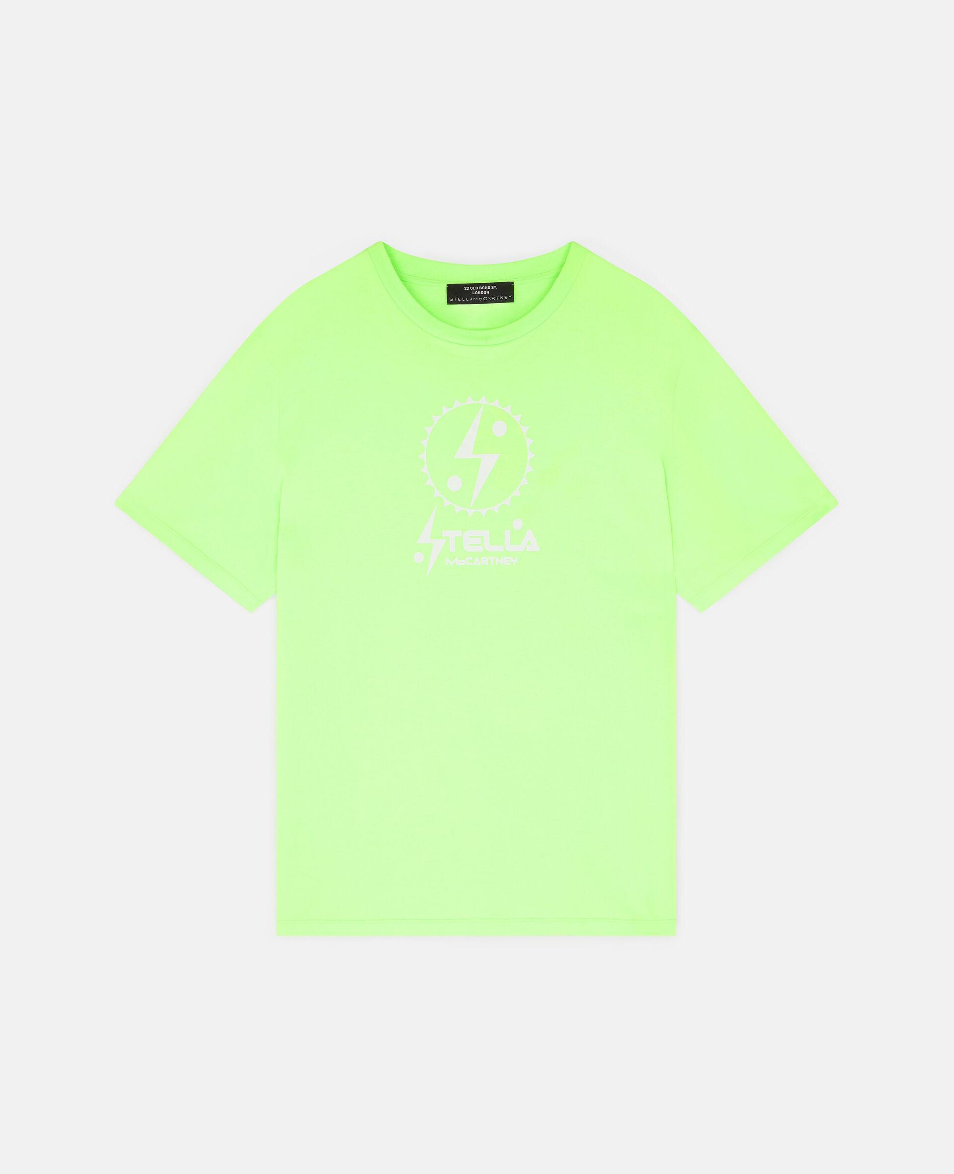 T-Shirt con Logo Stella Tom Tosseyn-Verde-large image number 0