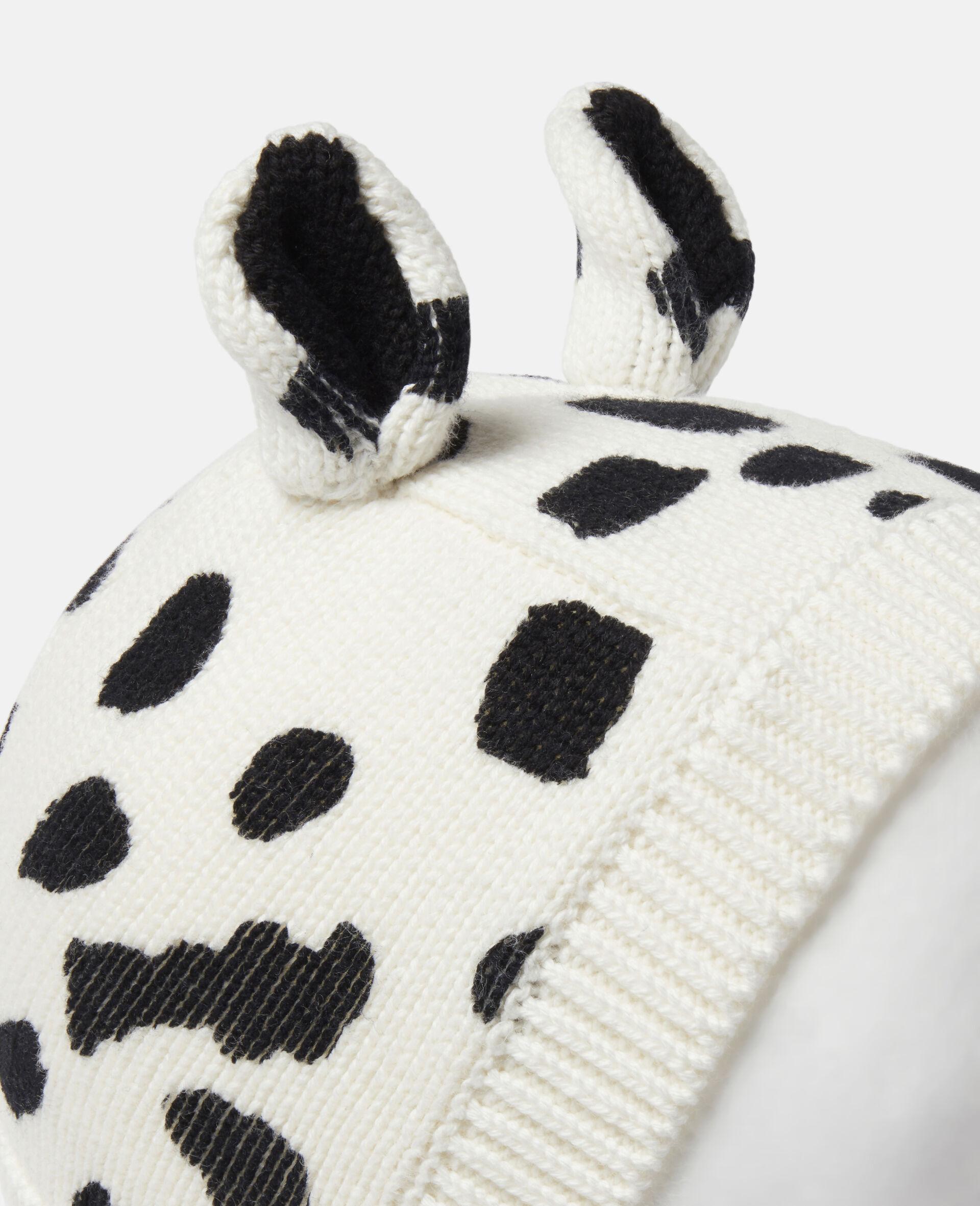 Kord-Mütze mit Dalmatinerflecken-Print-Weiß-large image number 1