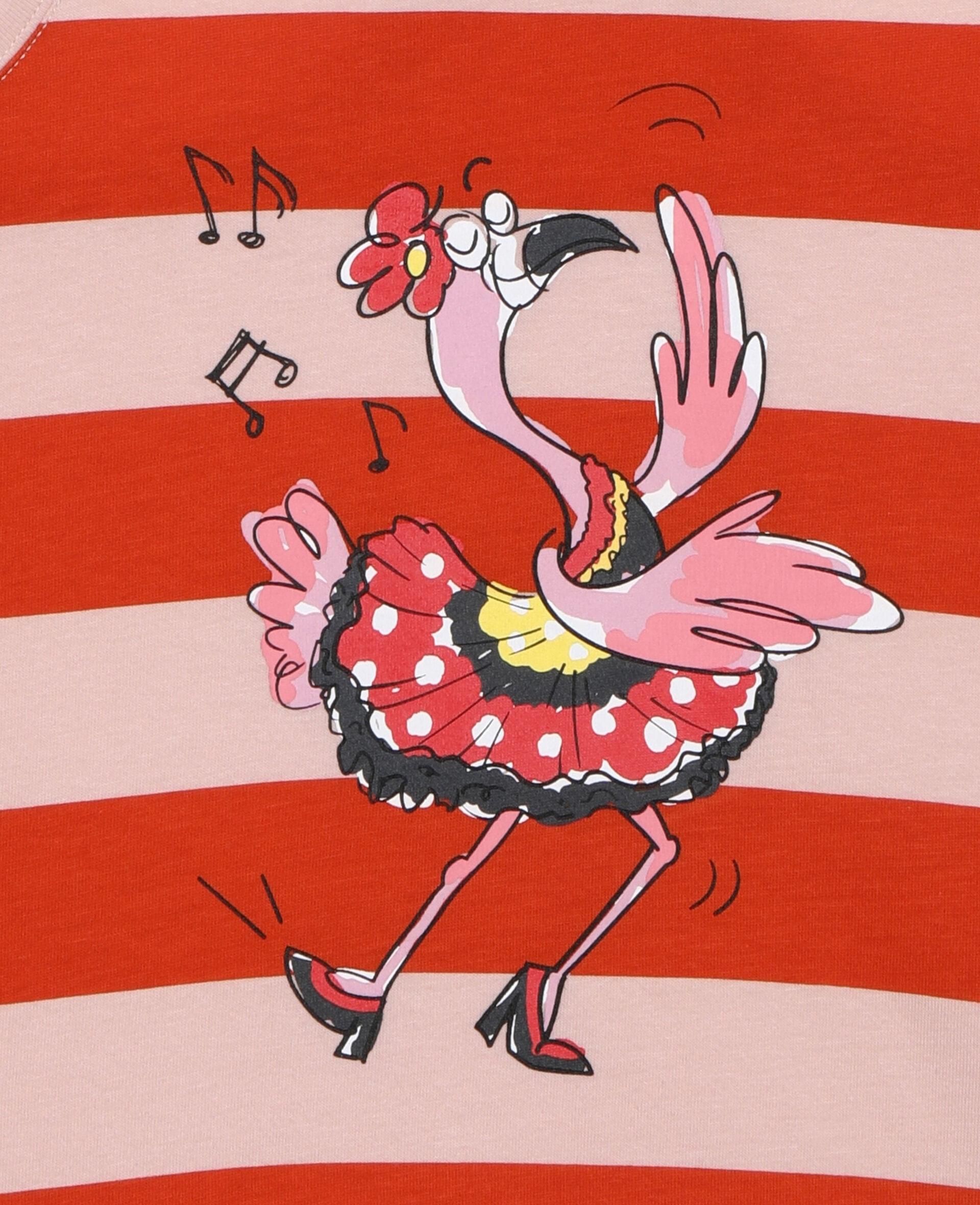 Dancing Flamingo Striped Vest -Pink-large image number 1