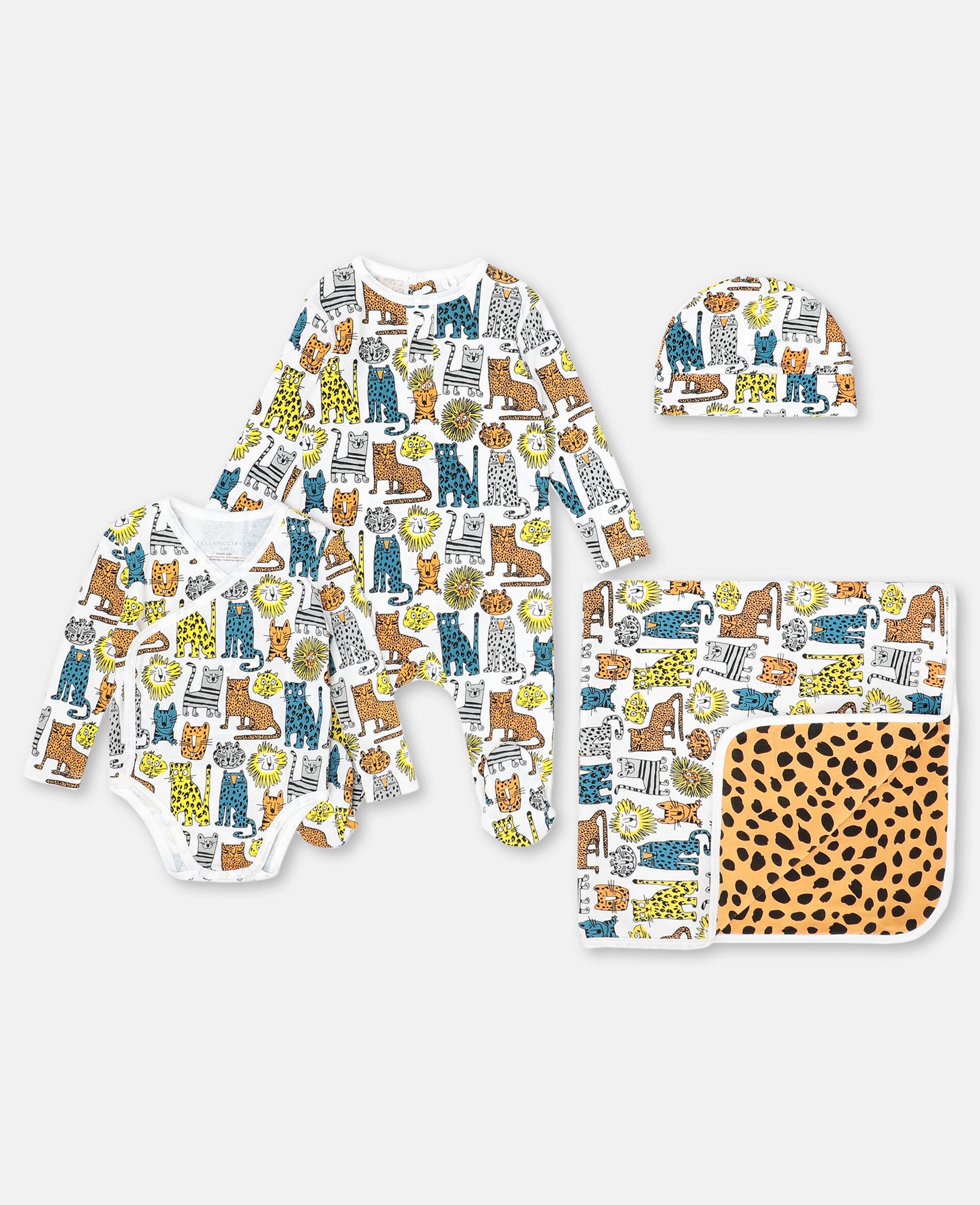 Wild Cats Jersey Rib Maternity Set -Multicoloured-large image number 0
