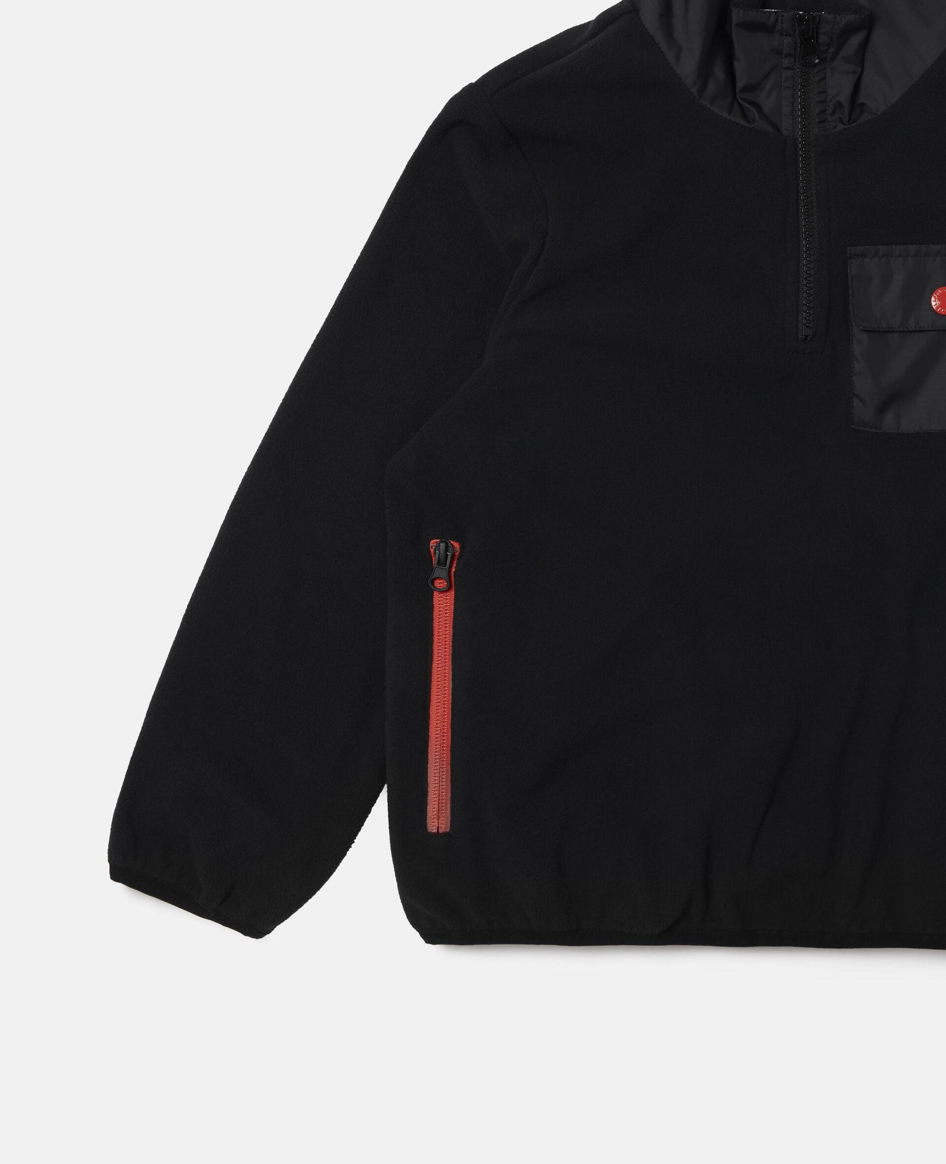 Sweat-shirt en polaire sportif Stella-Noir-large image number 1