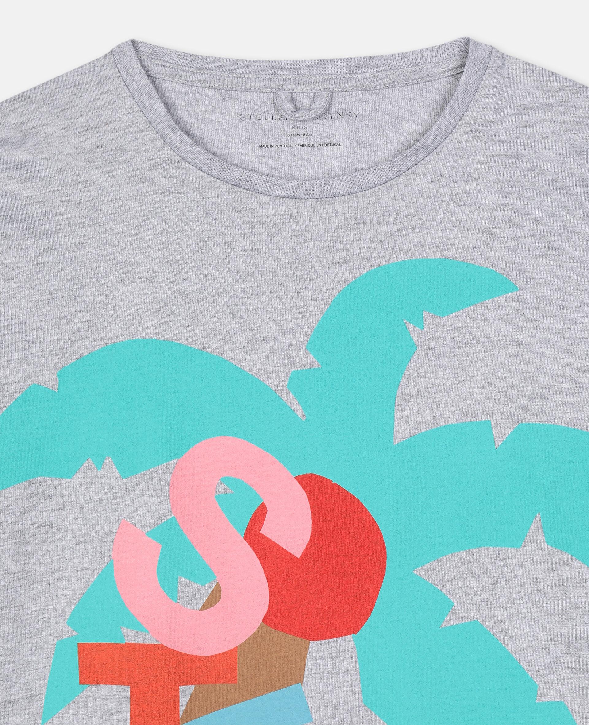 T-shirt oversize avec motif carte postale-Blanc-large image number 1