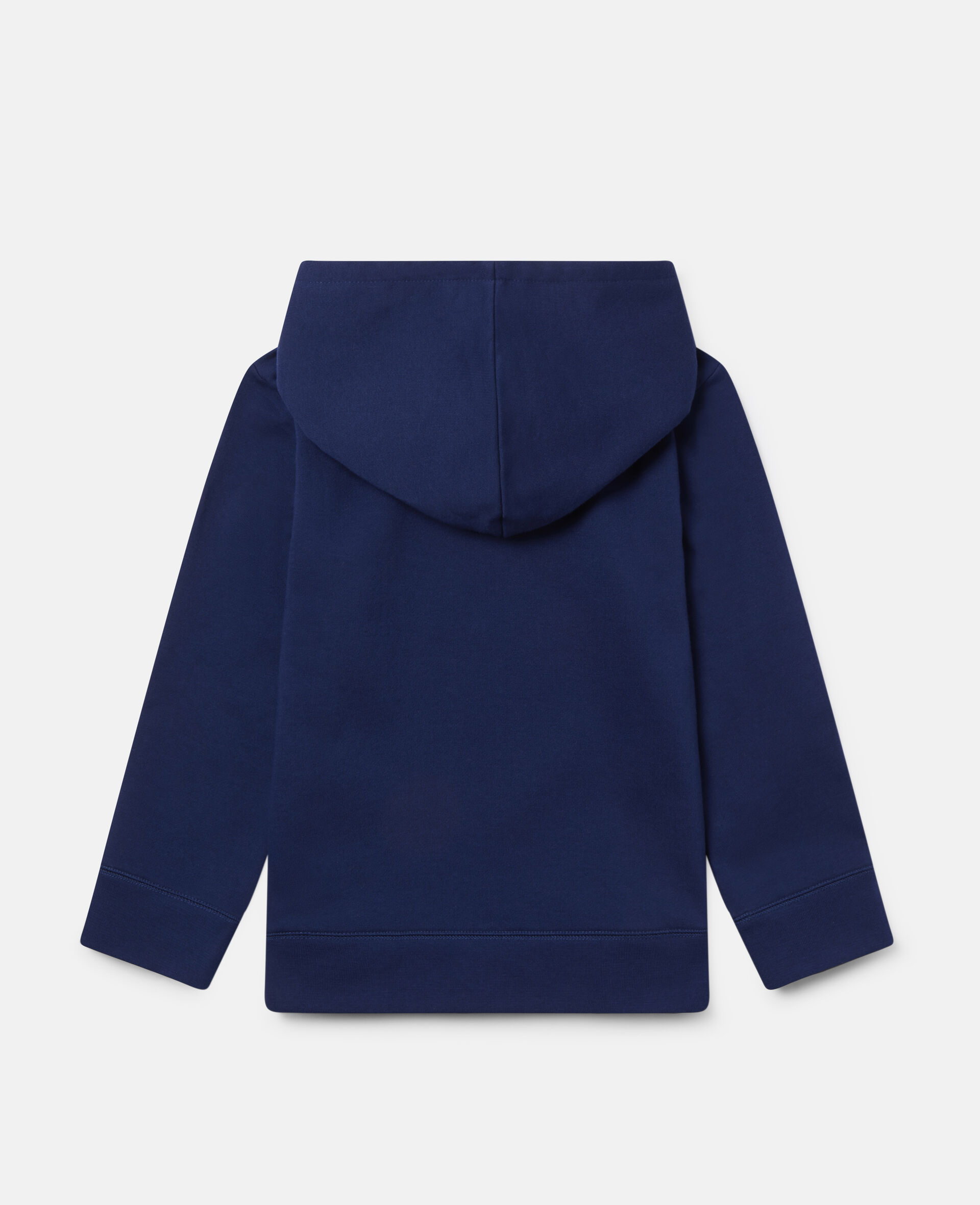 Oversized 'Eat My Dust' Fleece Hoodie-Blue-large image number 3