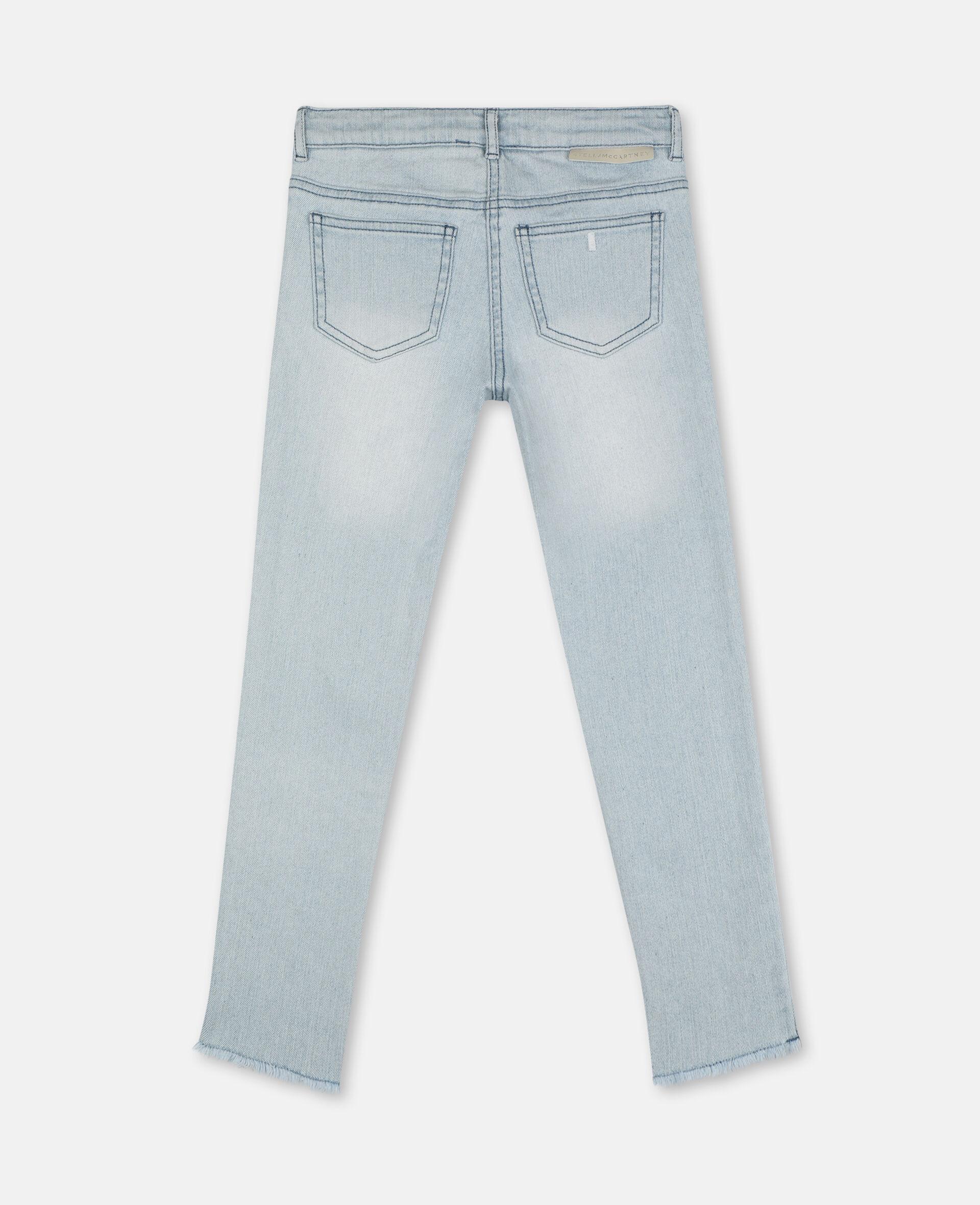 Skinny Denim Pants-Blue-large image number 3