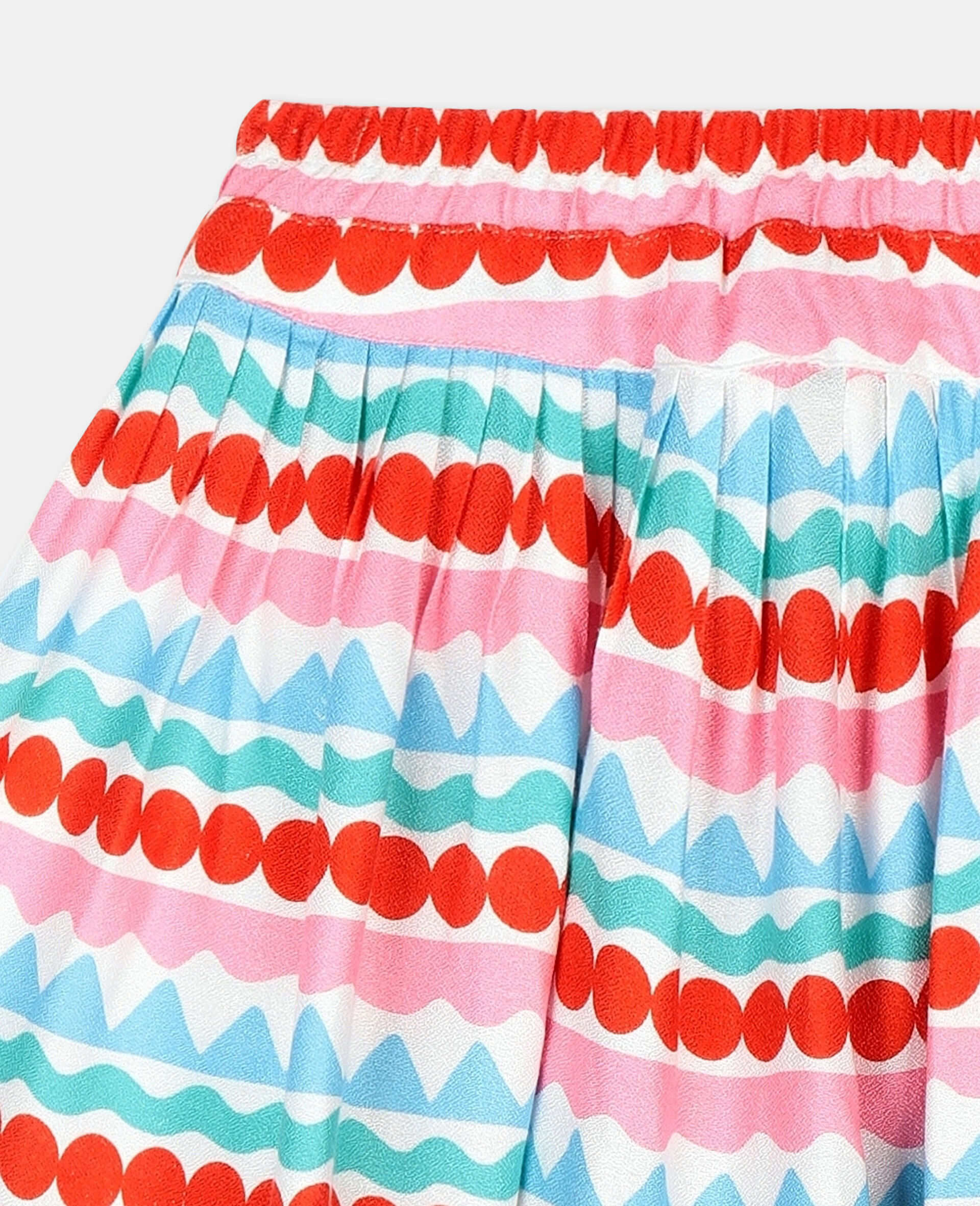 Graphic Striped Shorts-Multicolour-large image number 2
