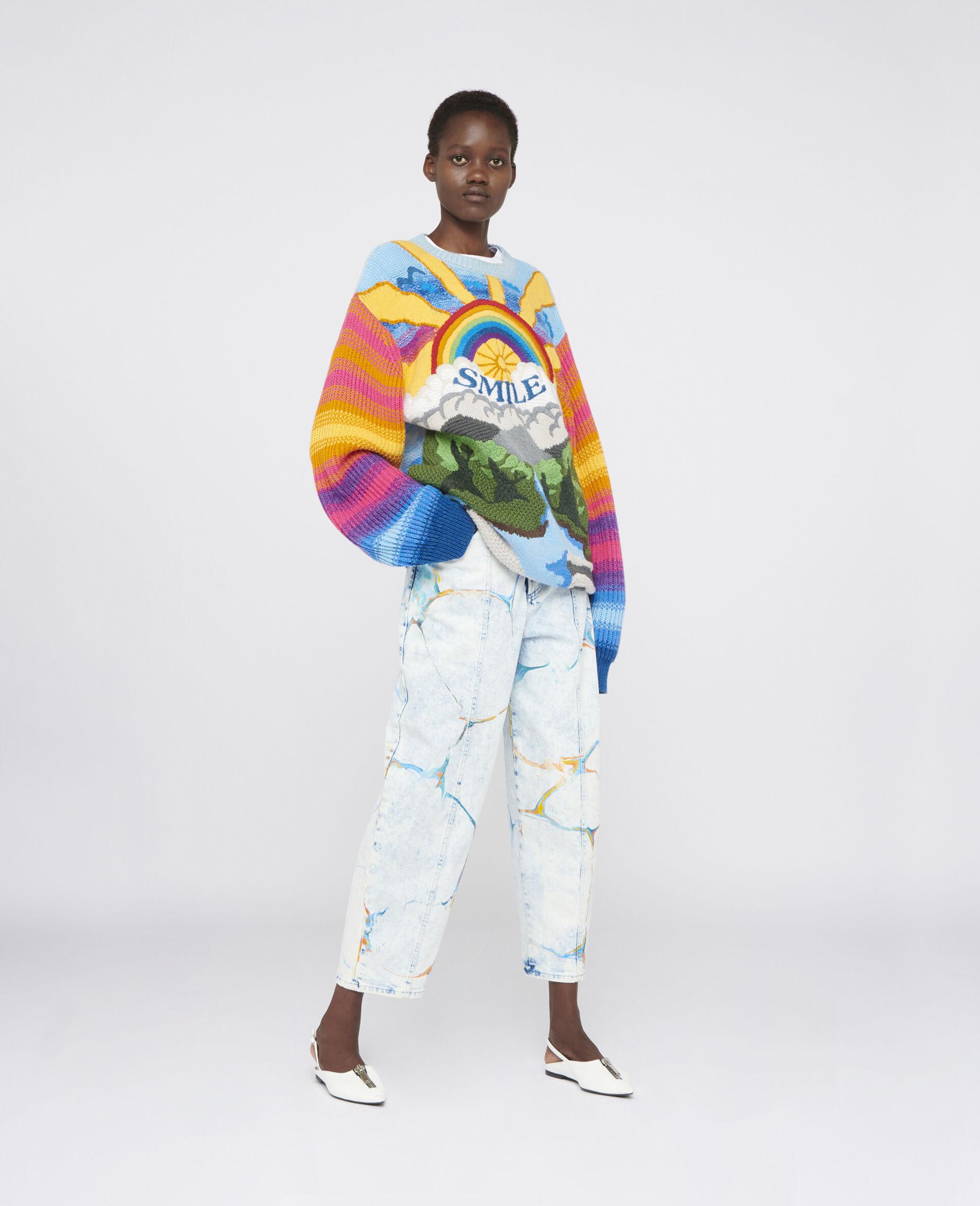 Jeans Gamba Dritta-Blu-large image number 1
