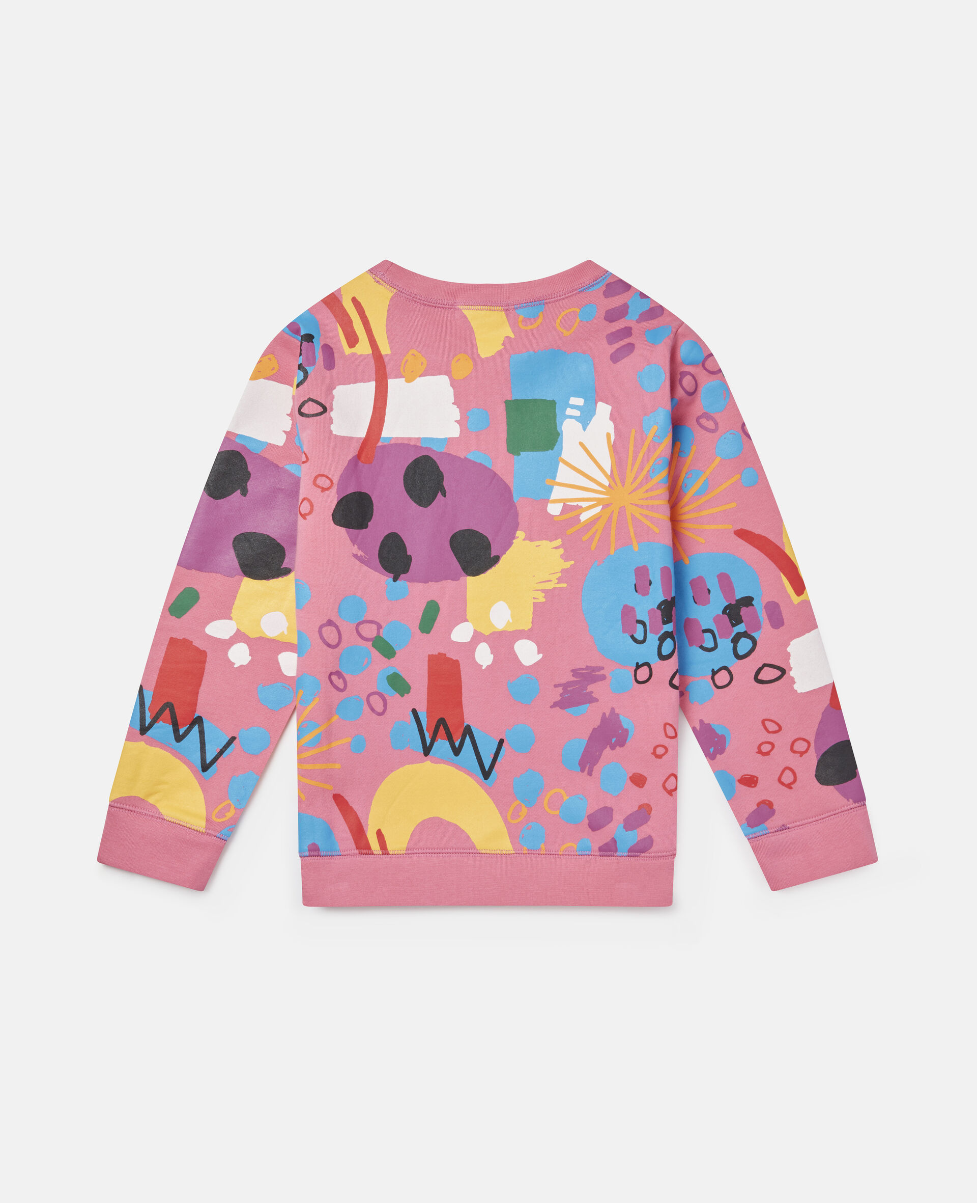 Painting Cotton Fleece Sweatshirt -Pink-large image number 3