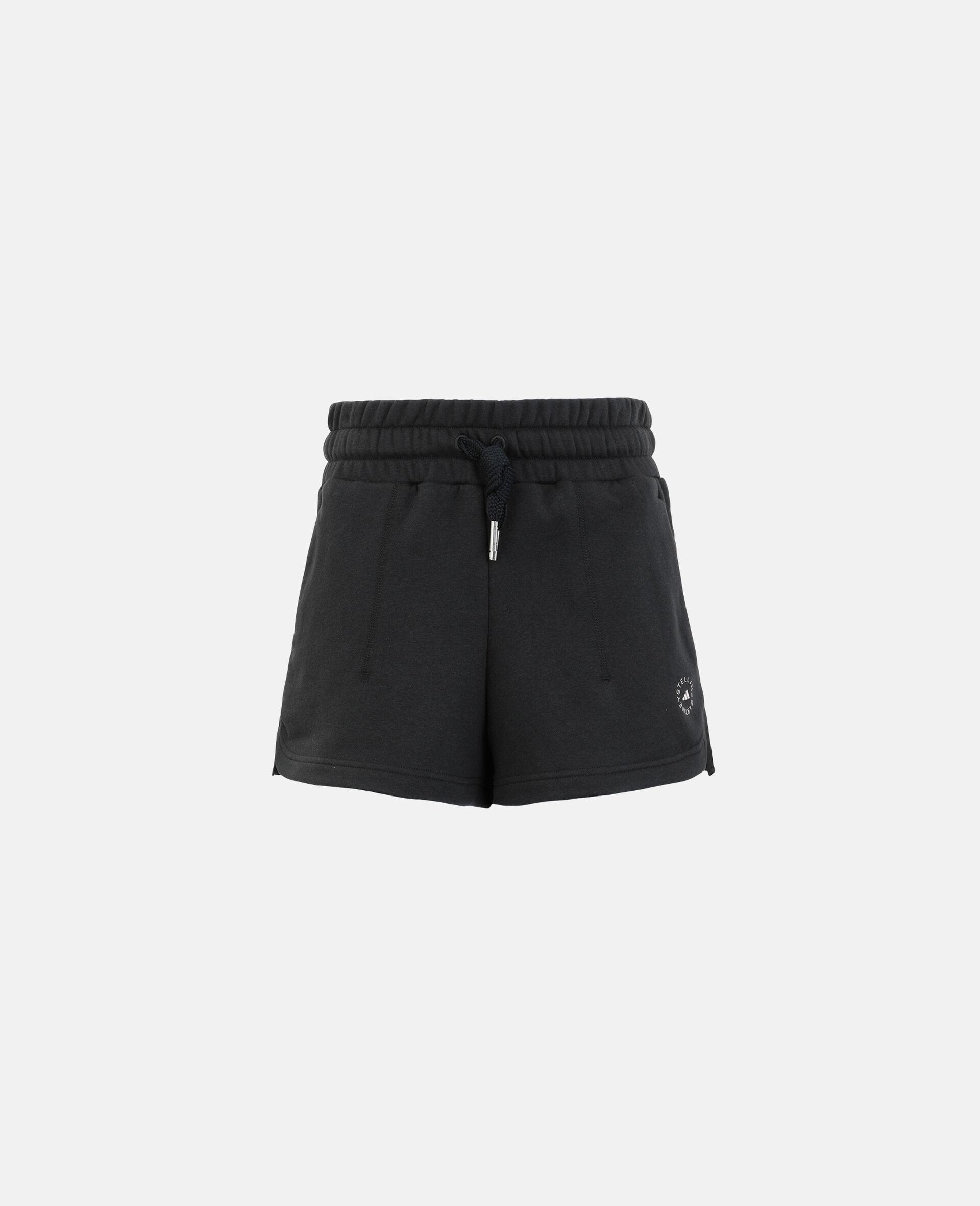 Schwarze Fleece-Sweat-Shorts-Schwarz-large image number 0