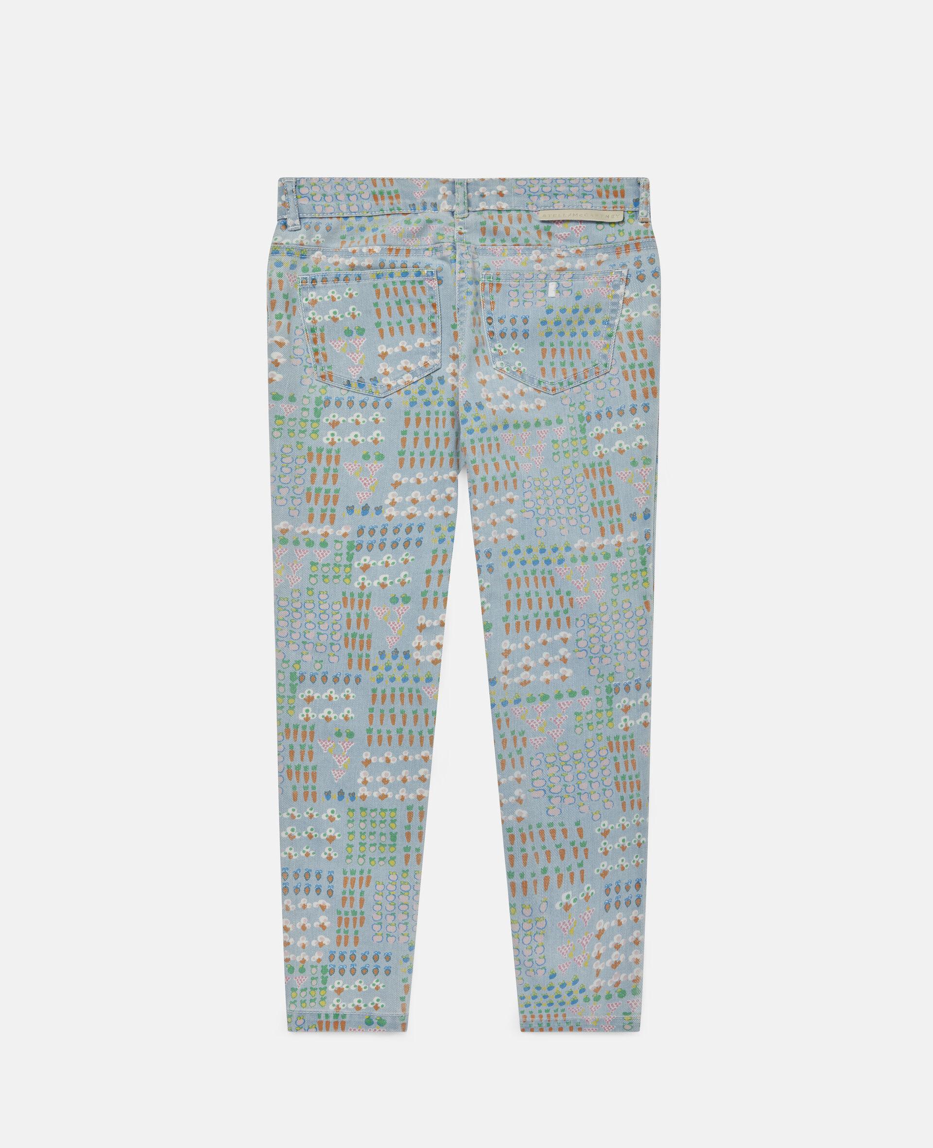 Garden Denim Trousers -Multicolour-large image number 3