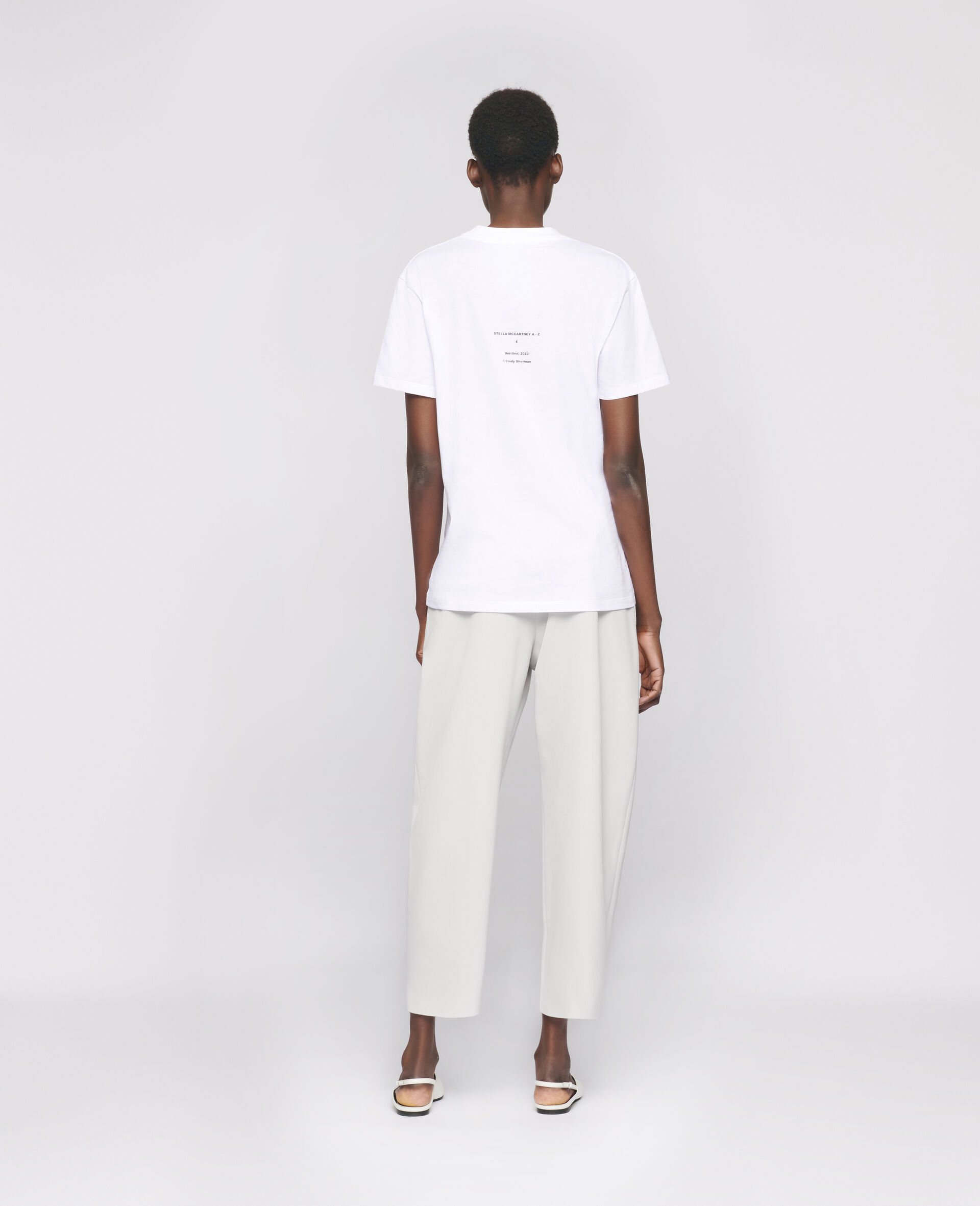"Cindy Sherman ""E"" T-shirt-White-large image number 2"