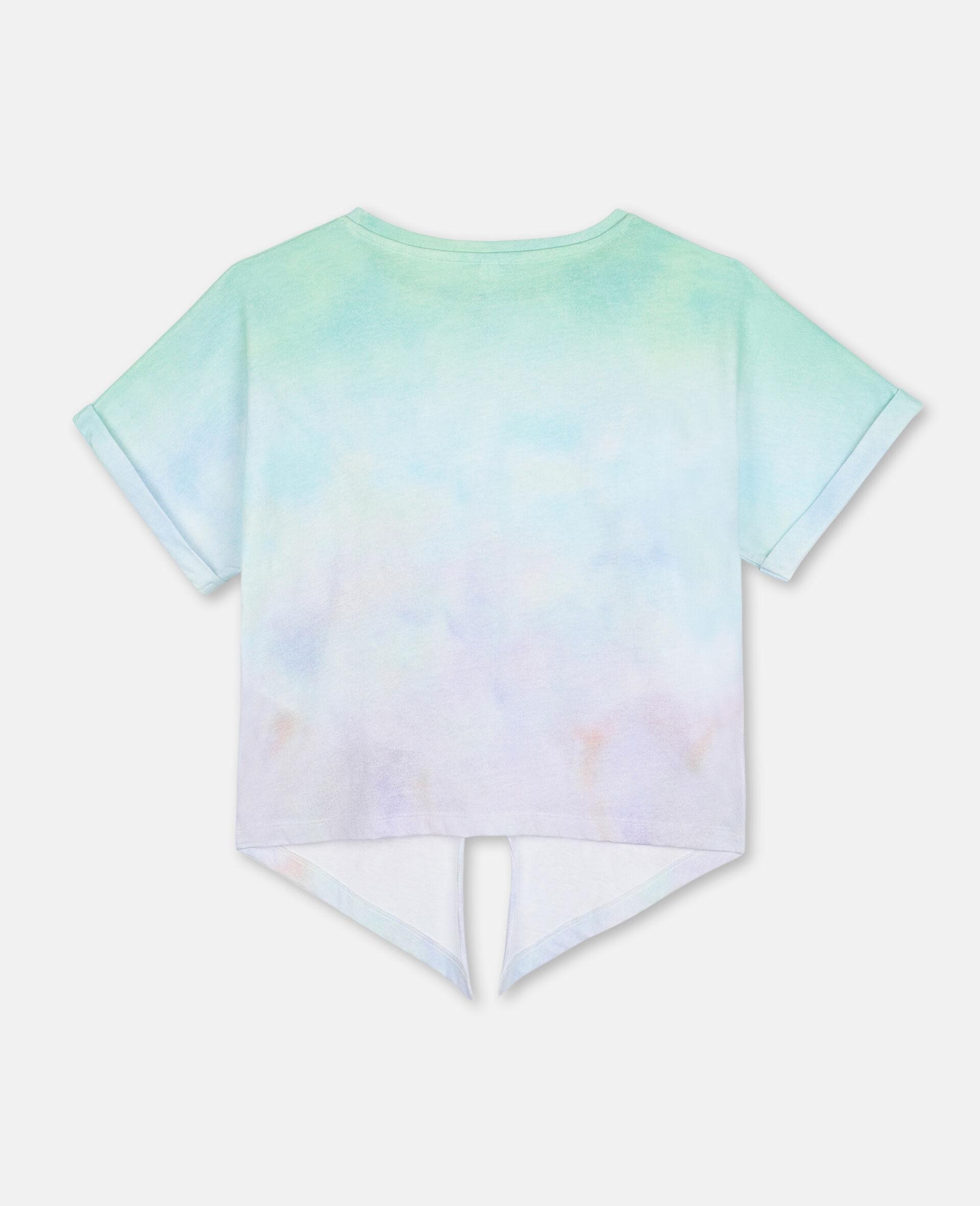 Baumwoll-T-Shirt mit Schmetterling-Print-Bunt-large image number 3