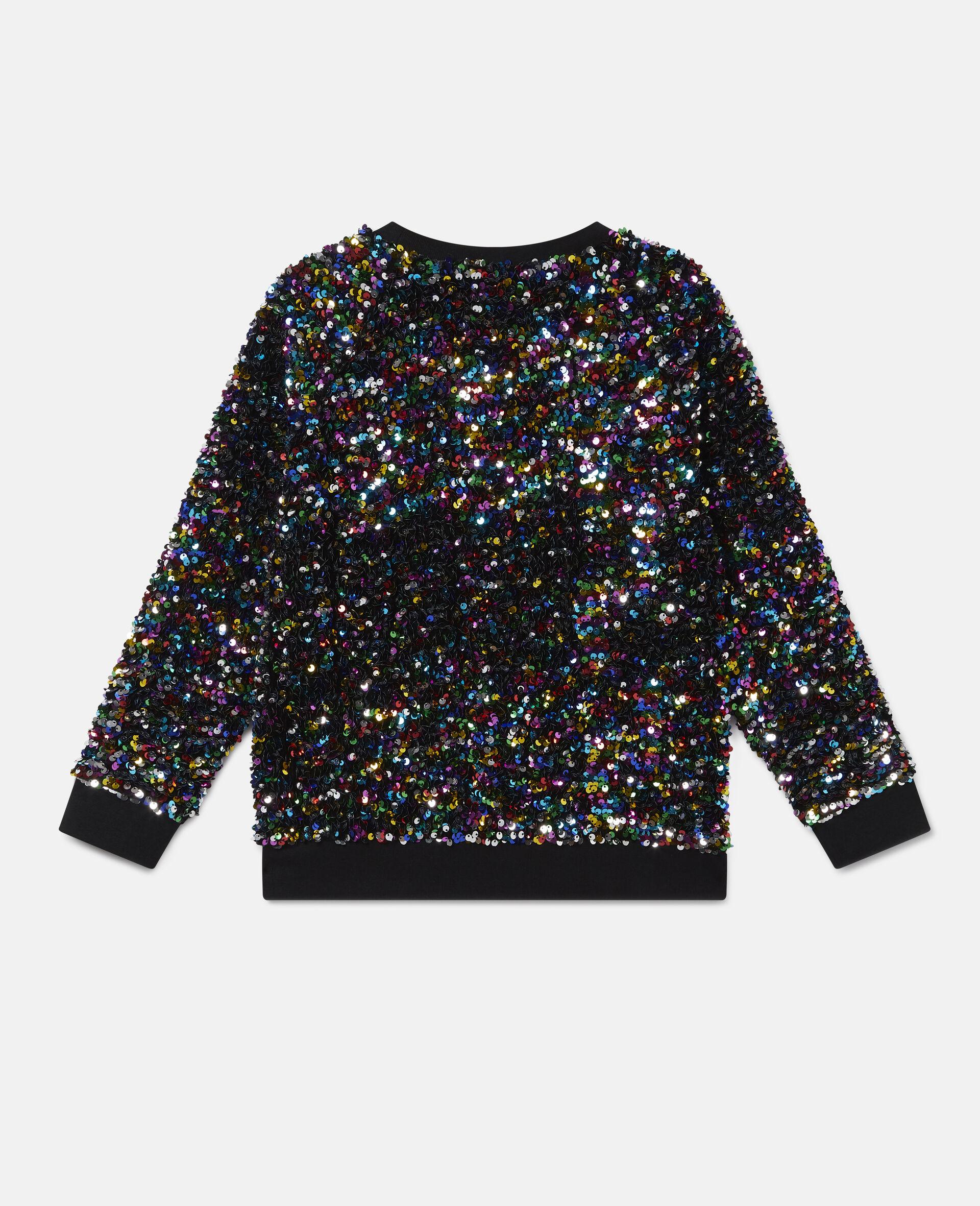 Sequined Fleece Sweatshirt -Multicolour-large image number 3