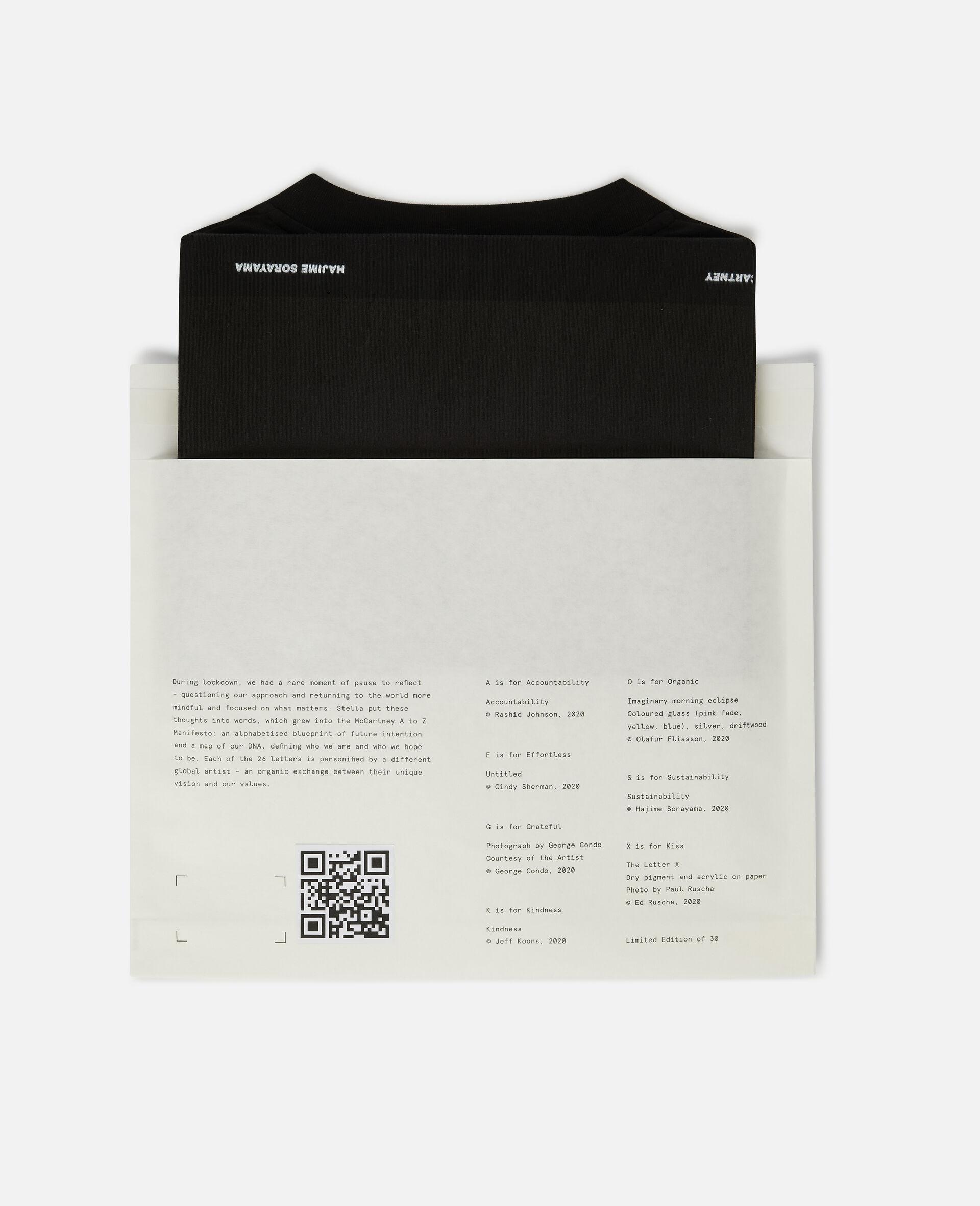 "T-Shirt ""S"" di Hajime Sorayama-Nero-large image number 5"