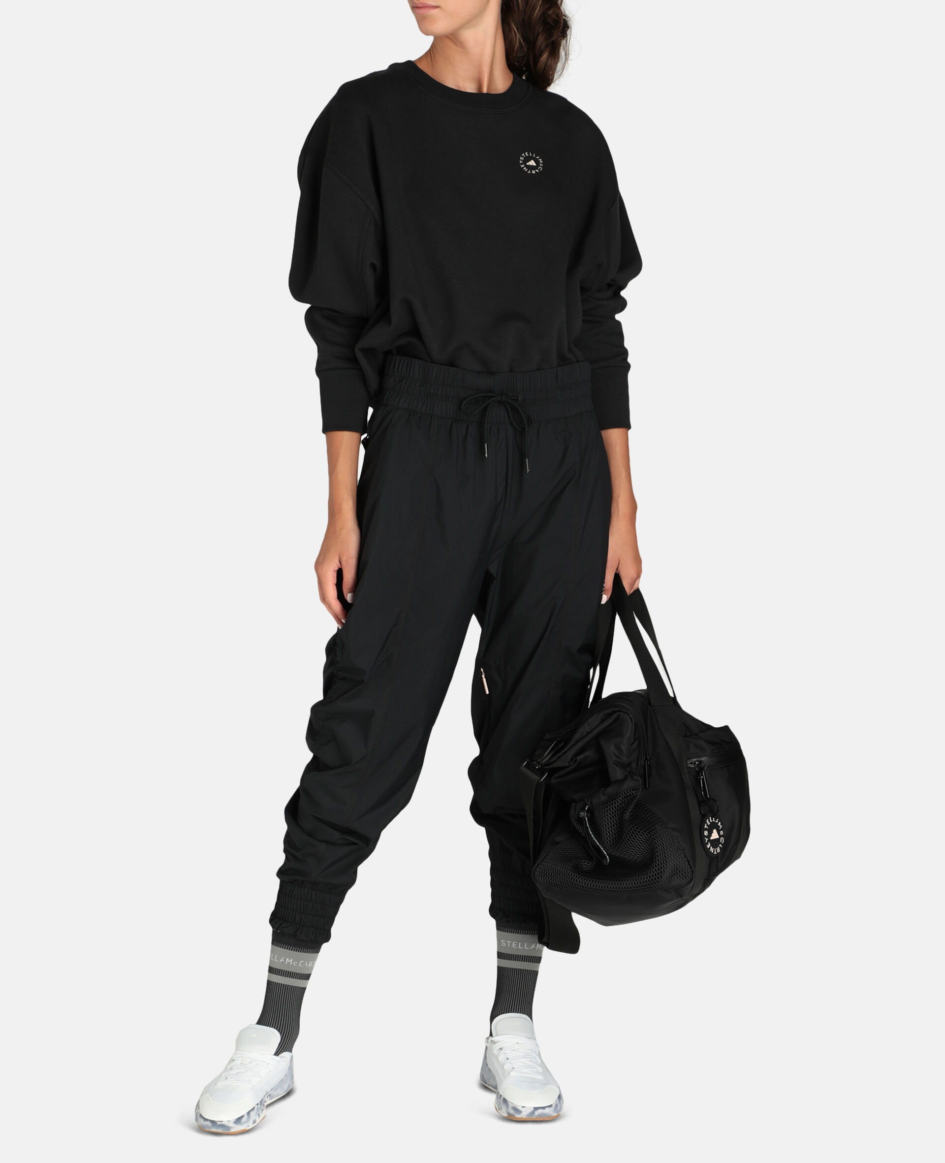Black Woven Training Trousers-Black-large image number 1