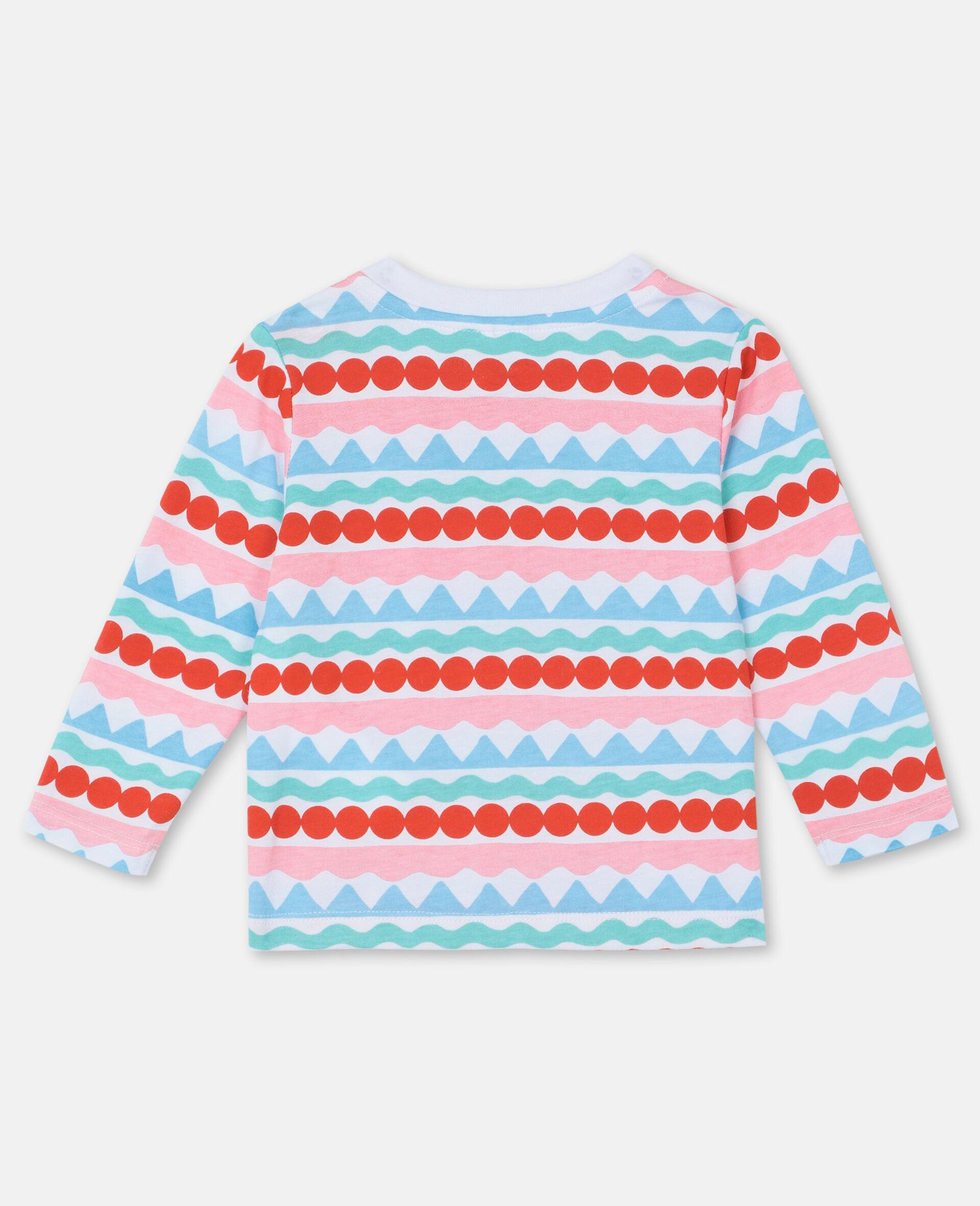 Graphic Stripes Cotton T-shirt-Multicolour-large image number 3