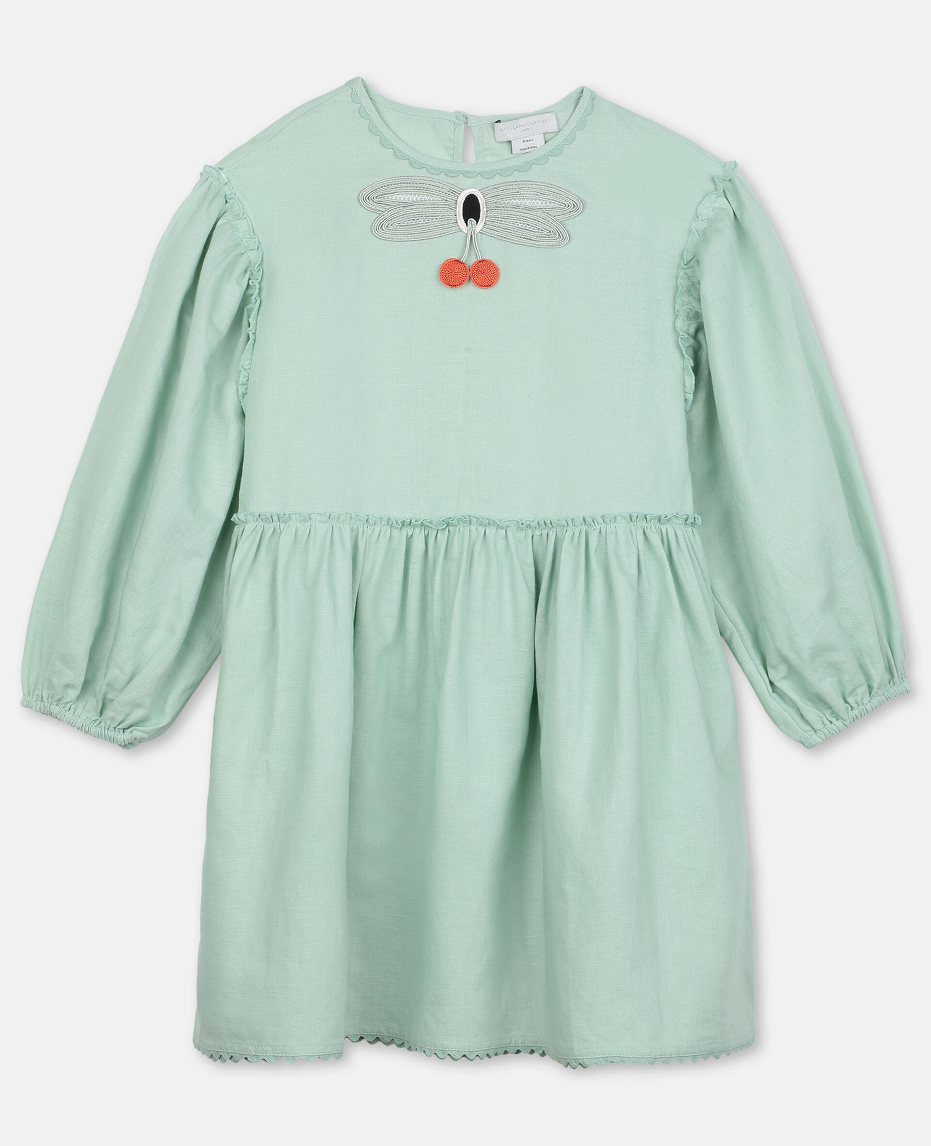 Dress with Butterfly Lace-Green-large image number 0