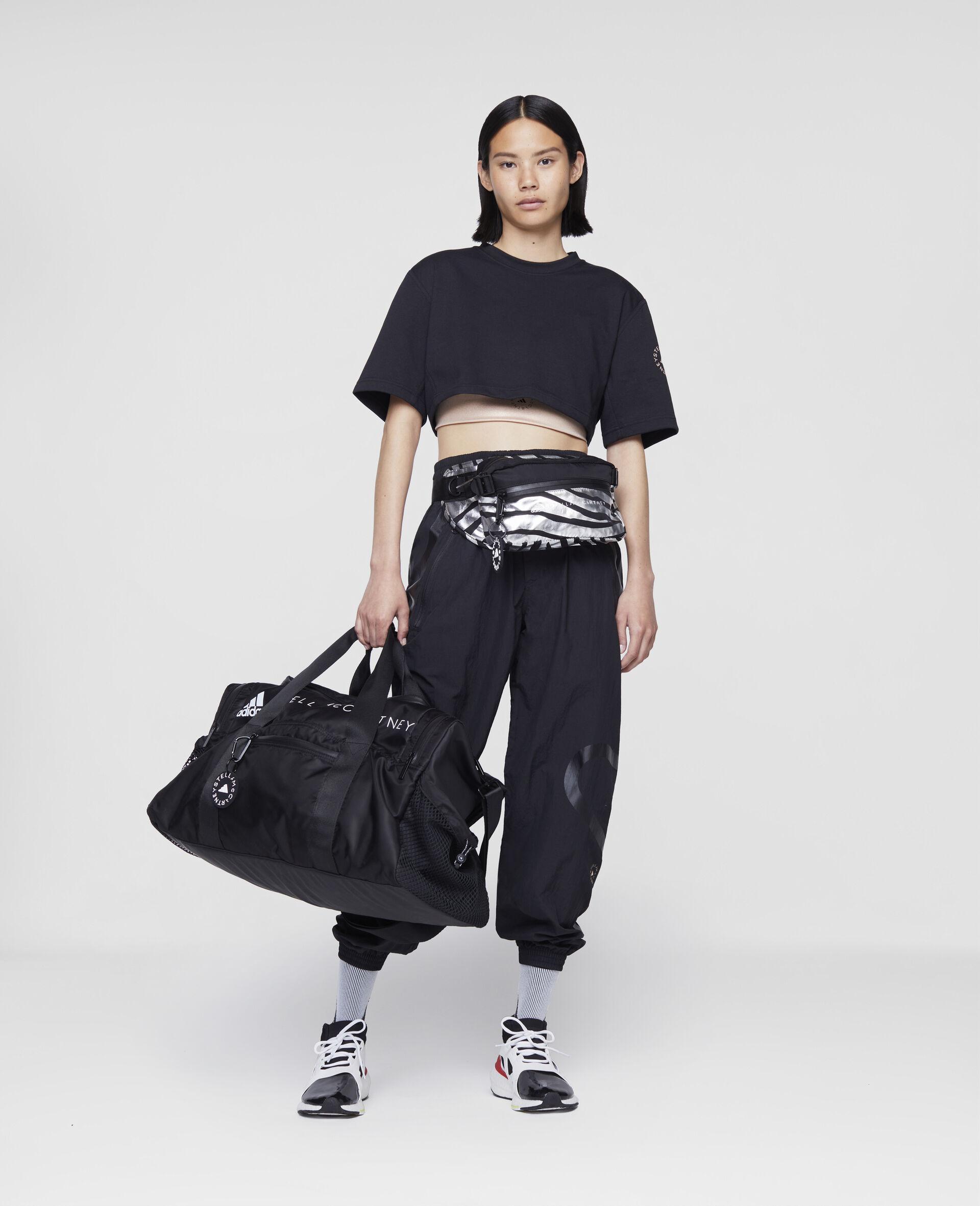 T-shirt crop d'entraînement noir-Noir-large image number 1