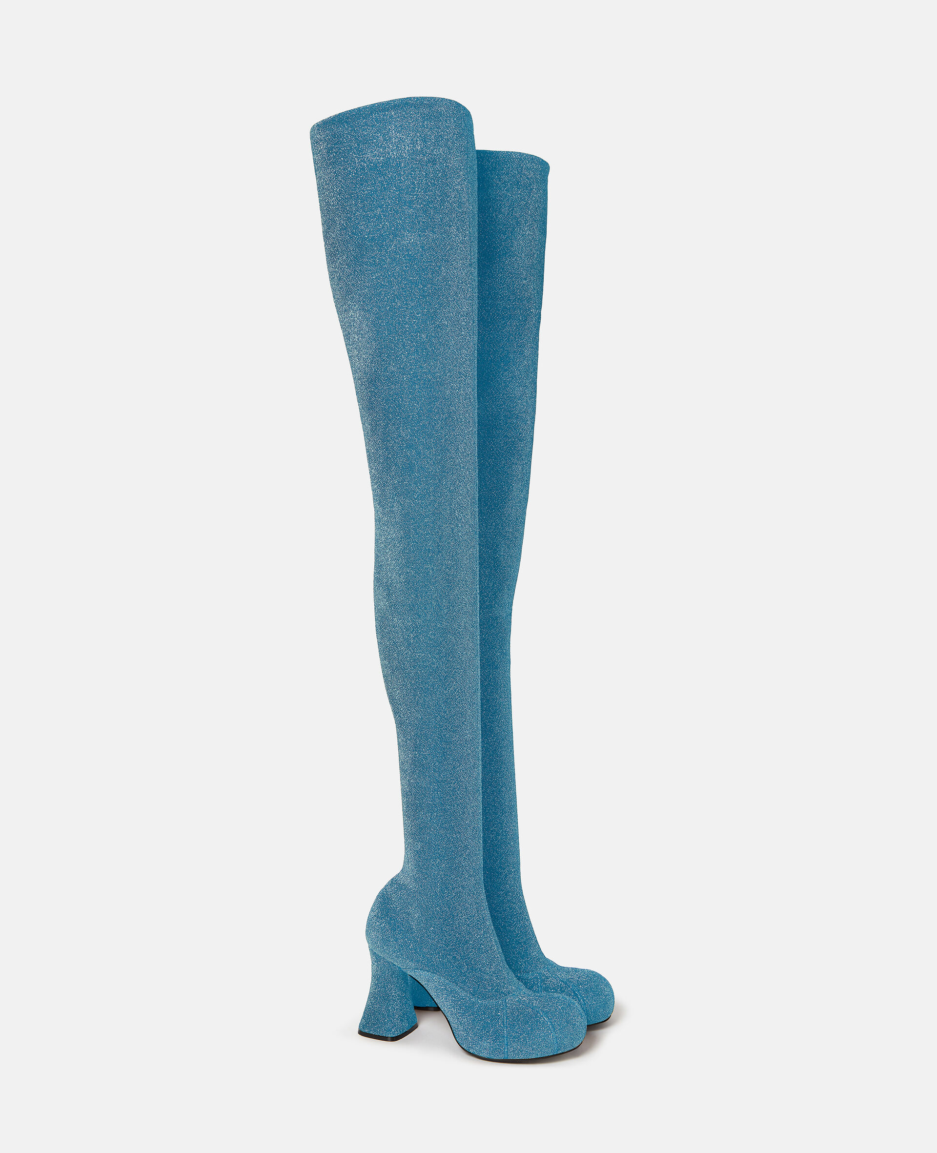 Over-The-Knee Duck City Glitter Boots -Blue-large image number 1