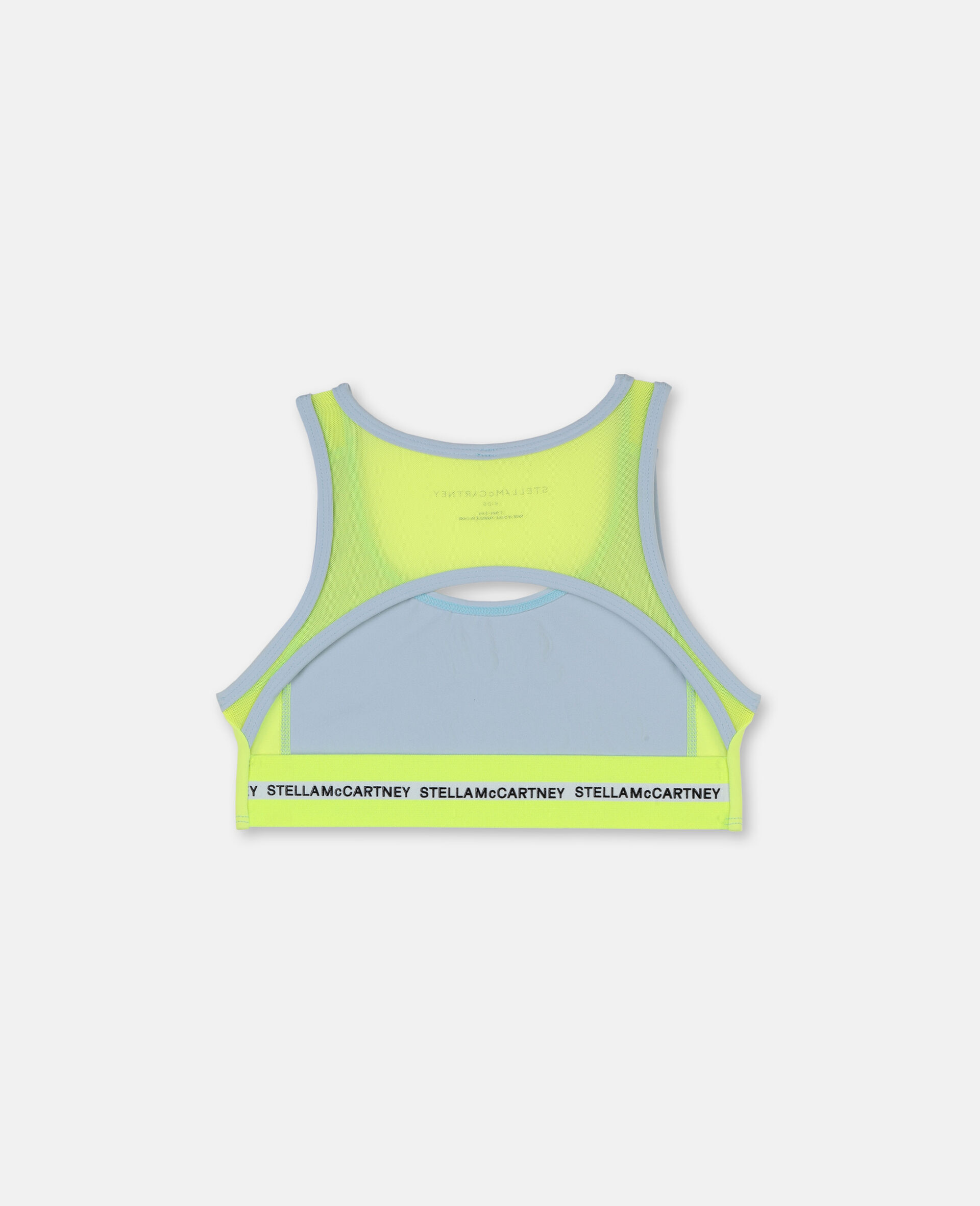 Logo Heavy Jersey Active Bra-Blue-large image number 3