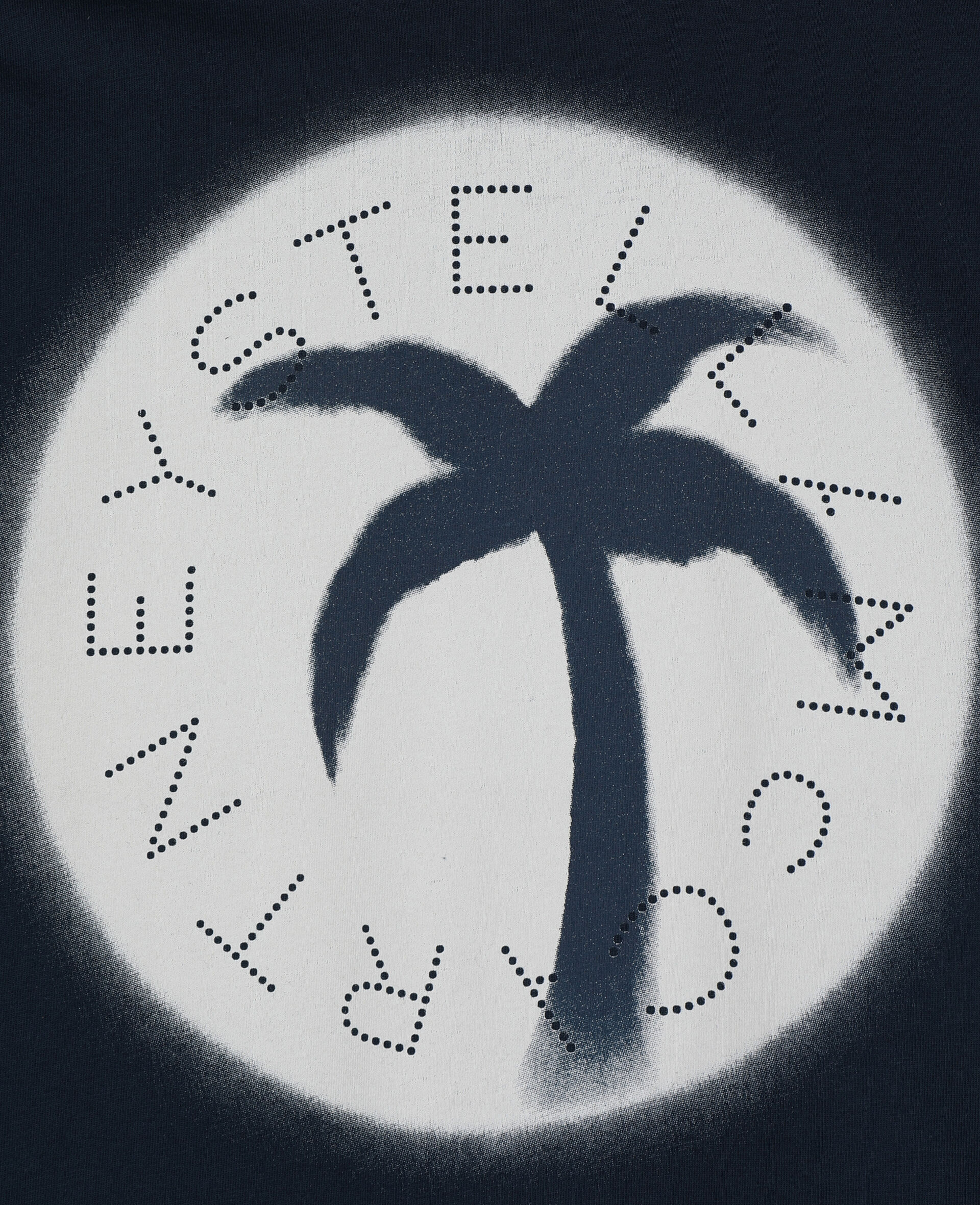 Palm阔型棉质Logo T恤-蓝色-large image number 1