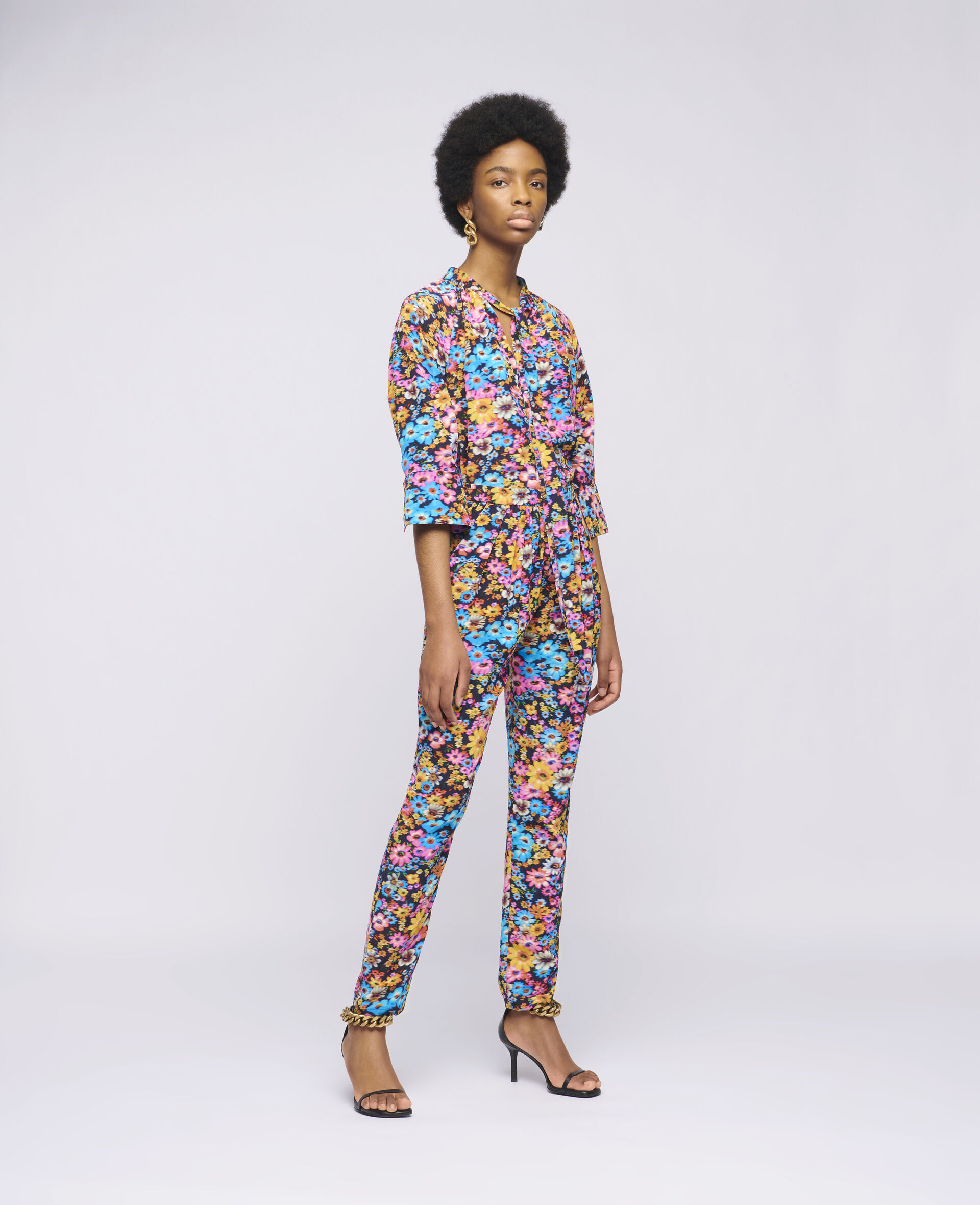 Christine Silk Trousers-Multicolour-large image number 1