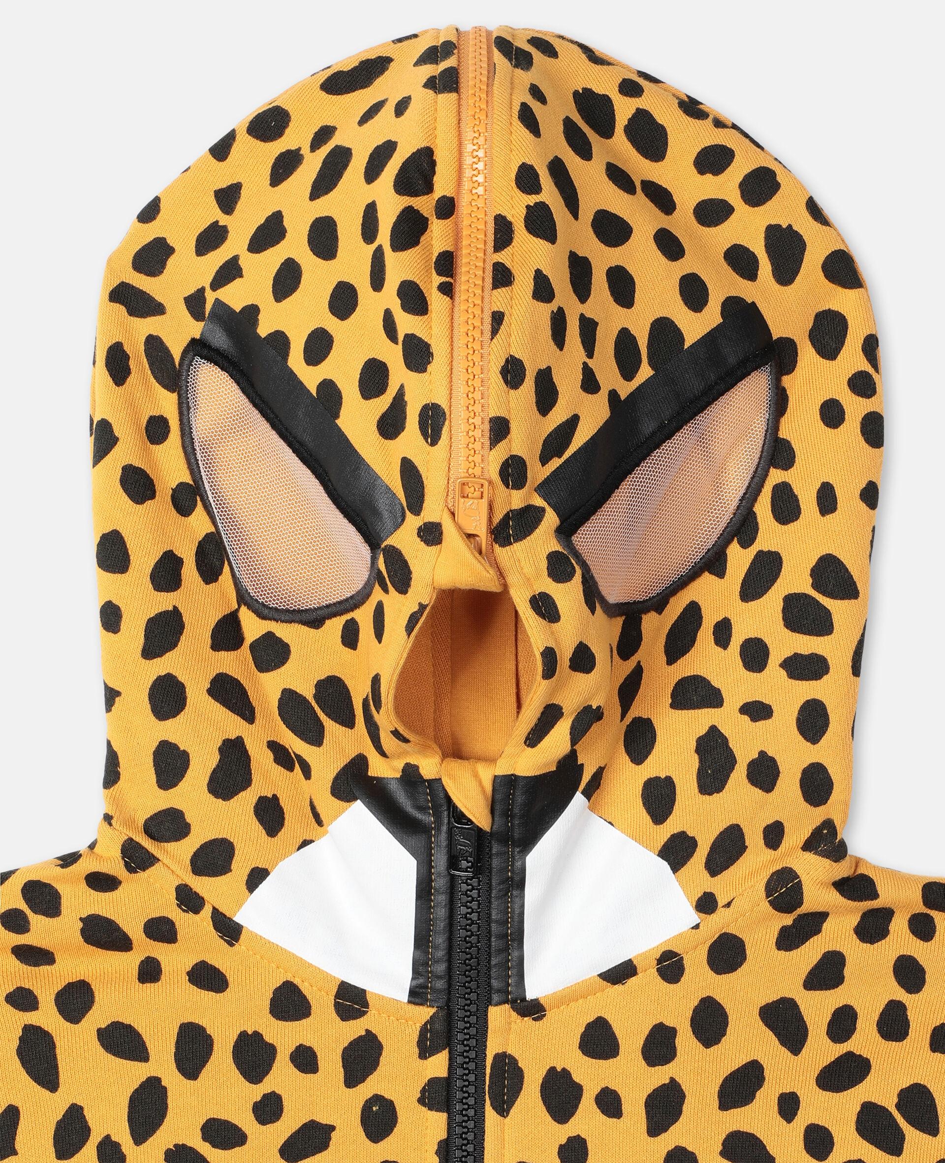Sweat-shirt à capuche en coton à motif guépard -Fantaisie-large image number 1
