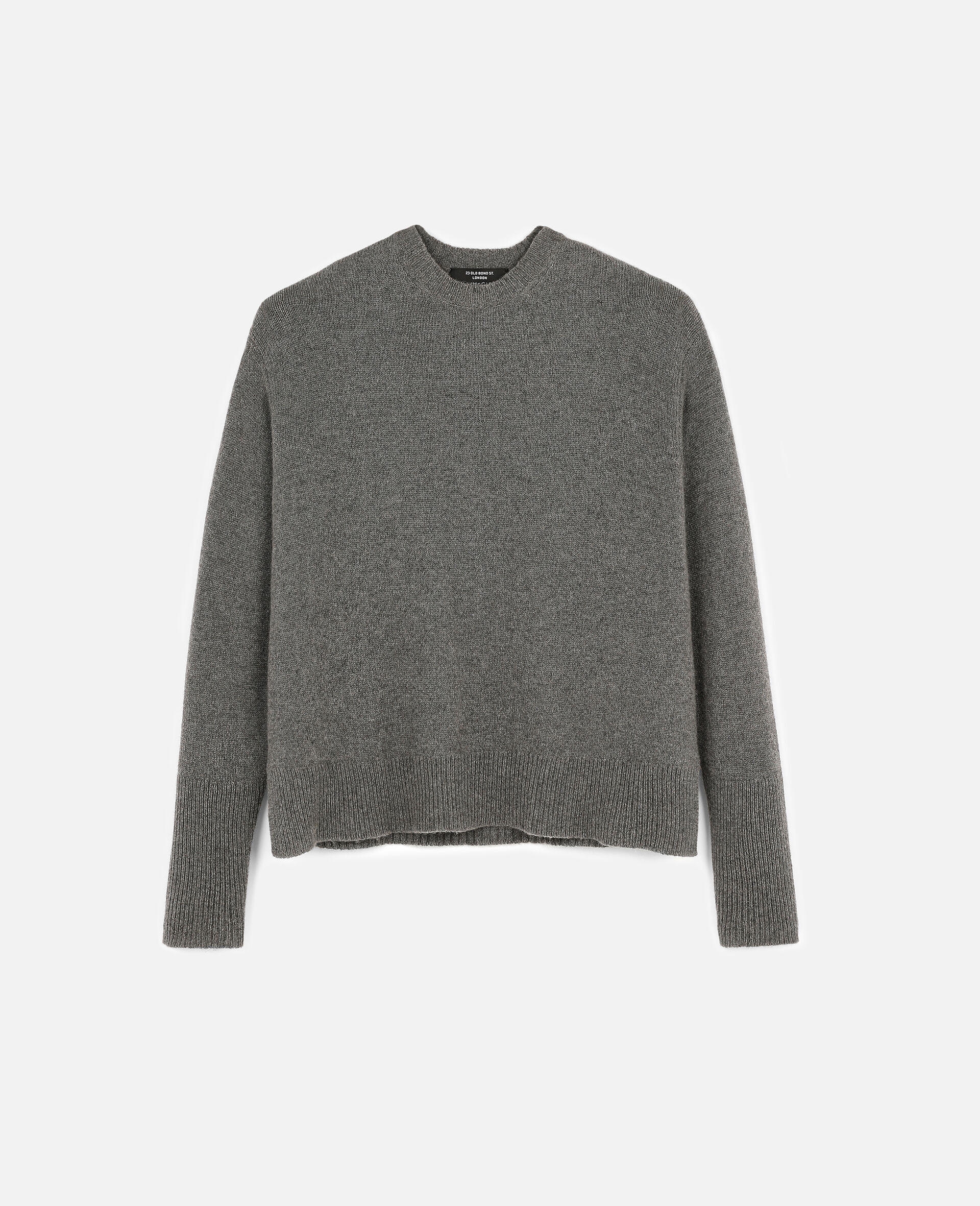 Regenerated Cashmere Sweater-Grey-large image number 0