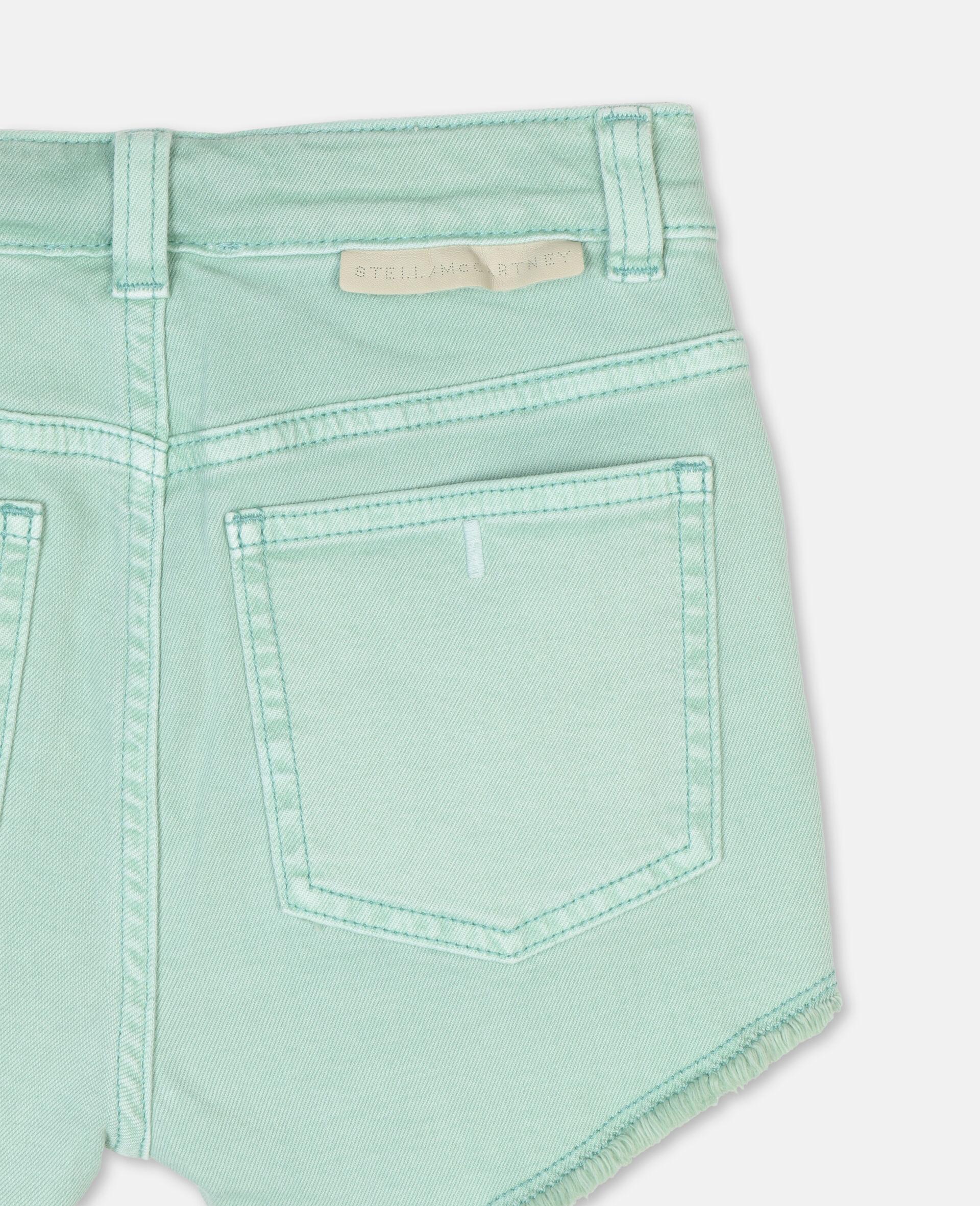 Denim Mint Shorts -Green-large image number 2