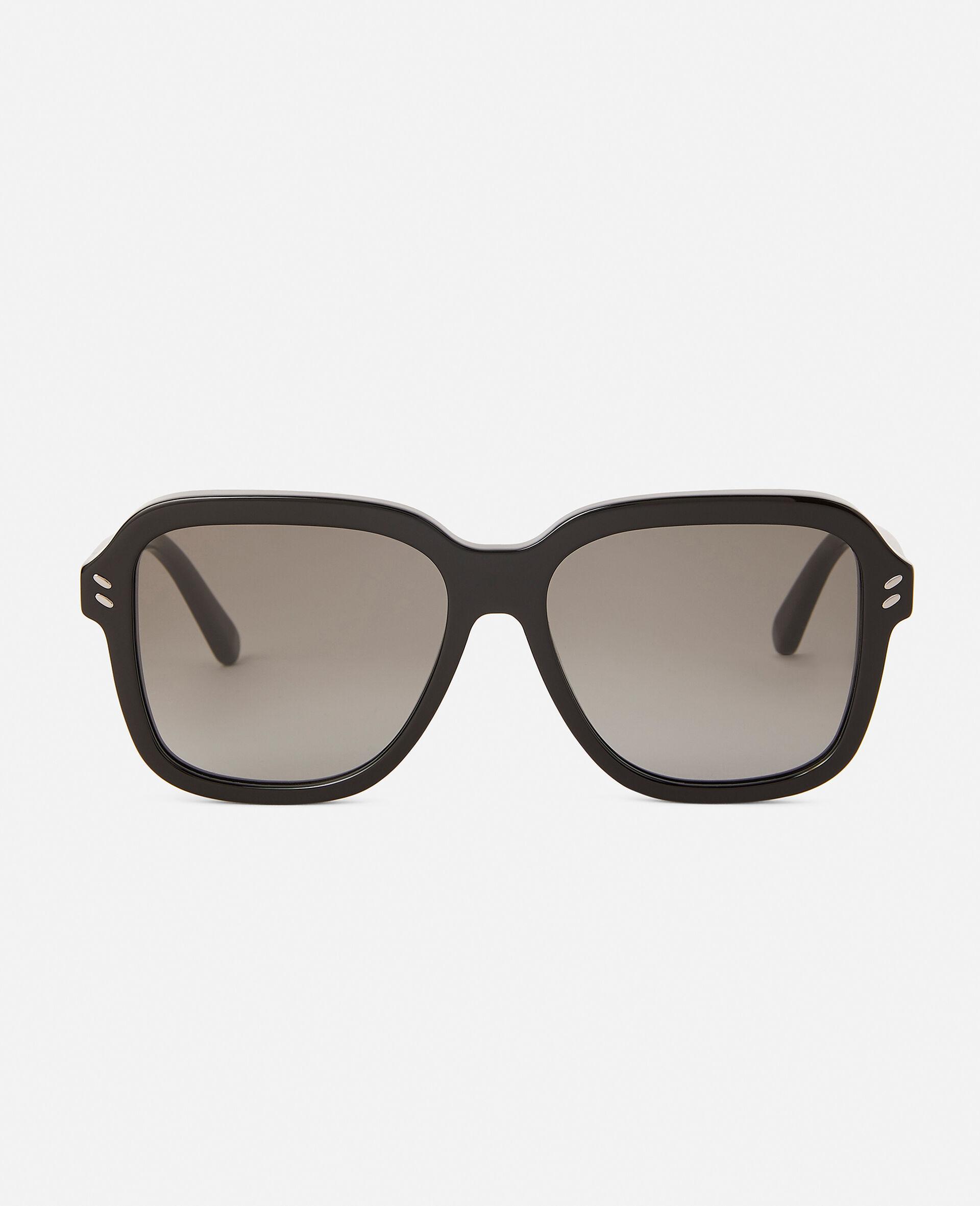 Sonnenbrille mit Leopard-Muster und eckiger Fassung-Brown-large image number 2