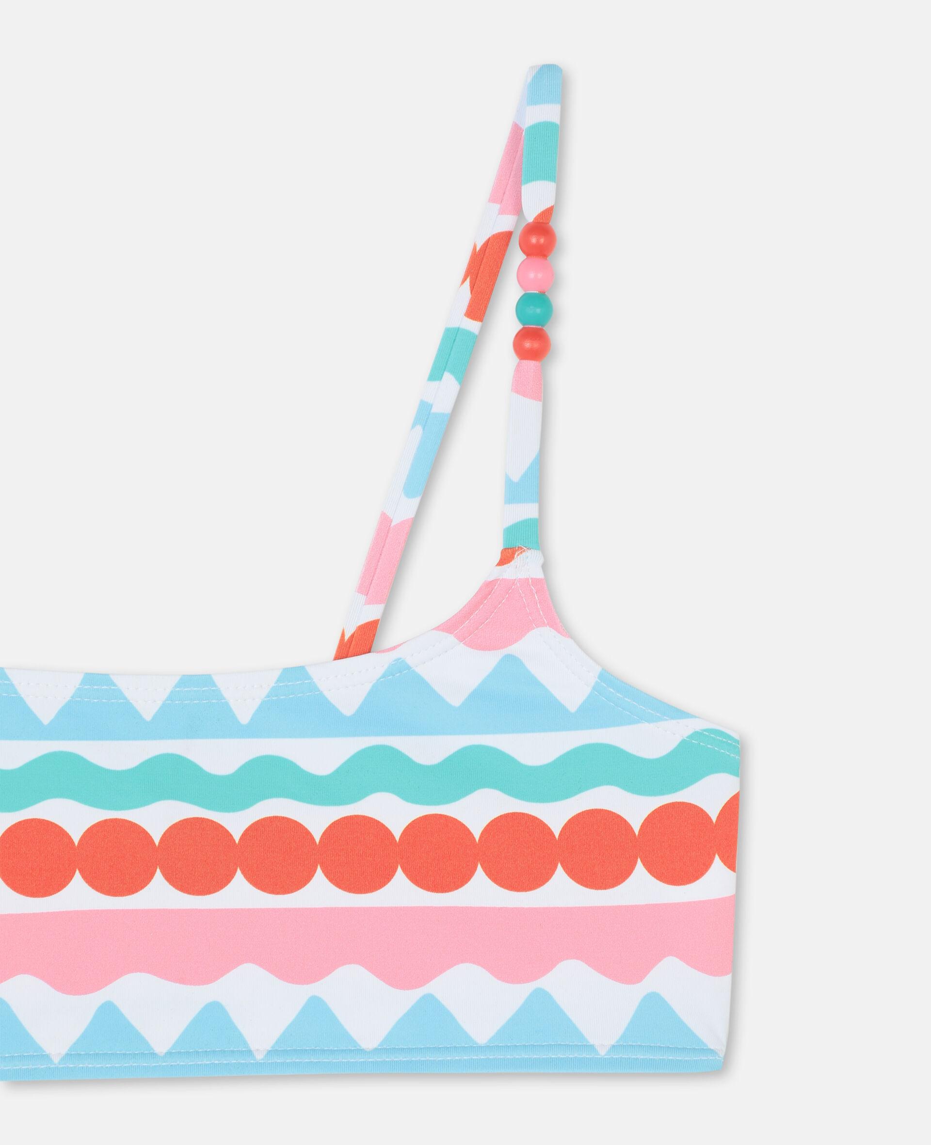 Graphic Stripes Bikini -Multicoloured-large image number 1